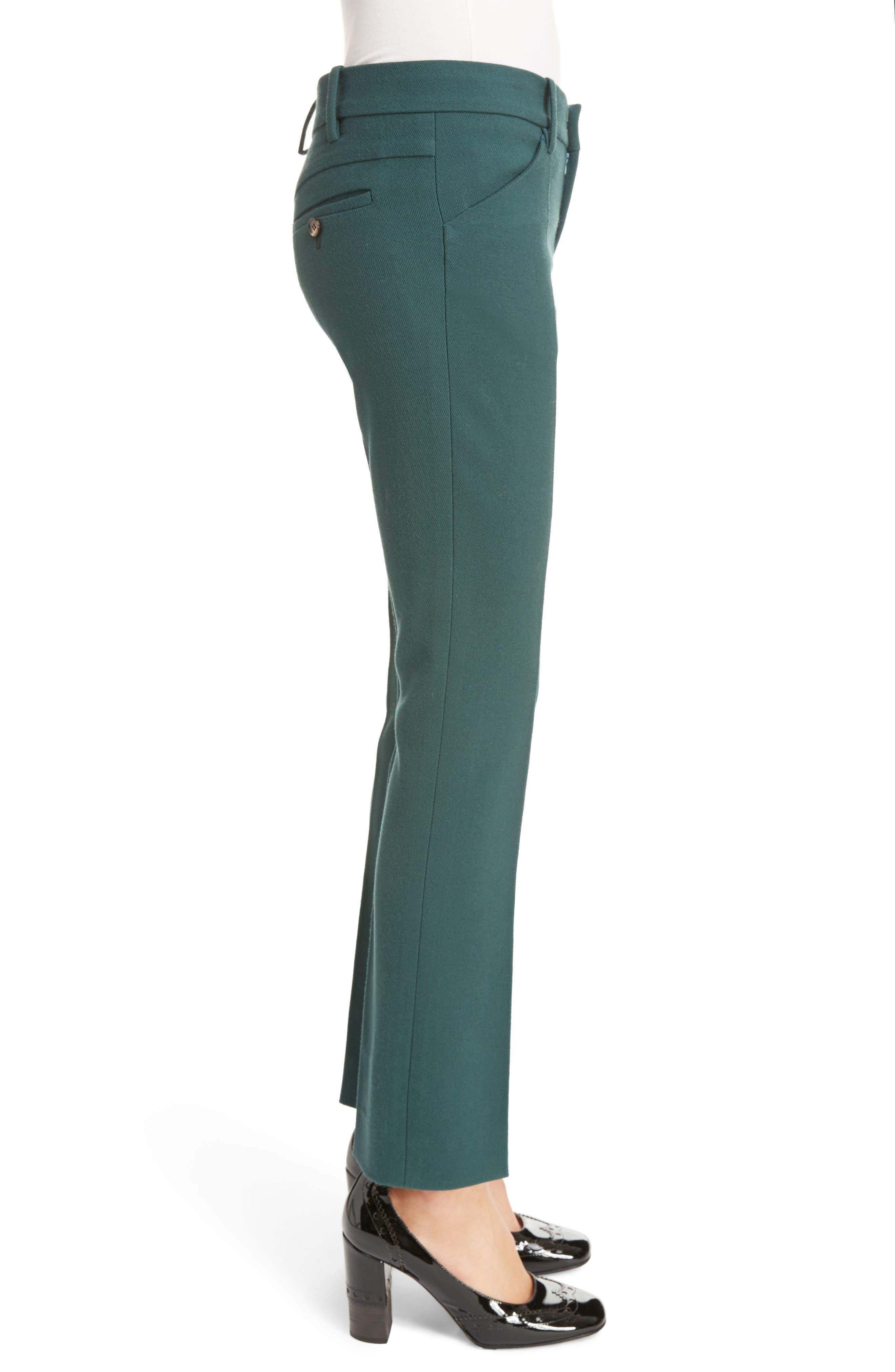Stretch Wool Straight Leg Pants,                             Alternate thumbnail 3, color,