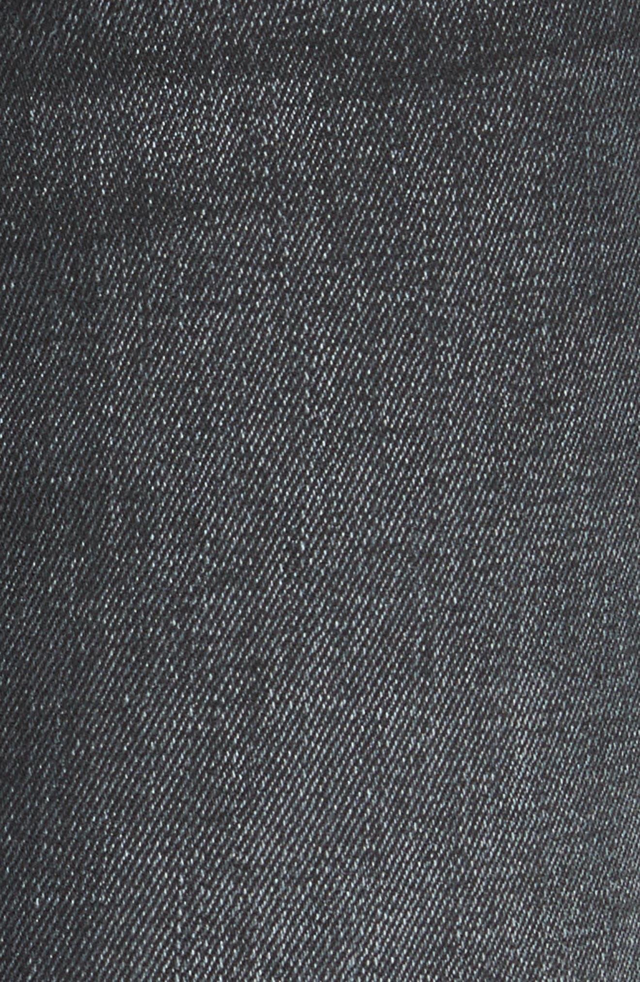 The Hustler Frayed Ankle Jeans,                             Alternate thumbnail 5, color,                             001