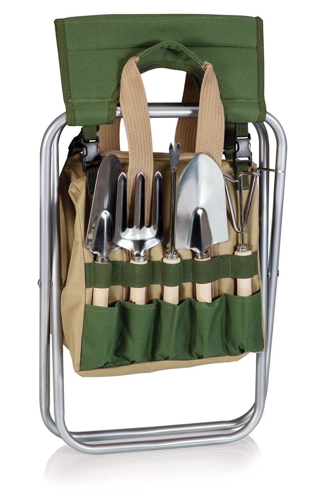 Picnic Time Gardener Seat & Tools,                             Alternate thumbnail 4, color,                             300