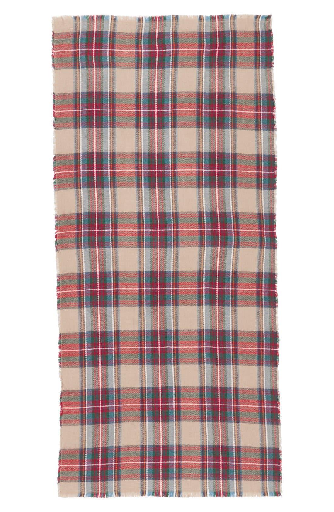 Plaid Blanket Scarf,                             Alternate thumbnail 3, color,                             250