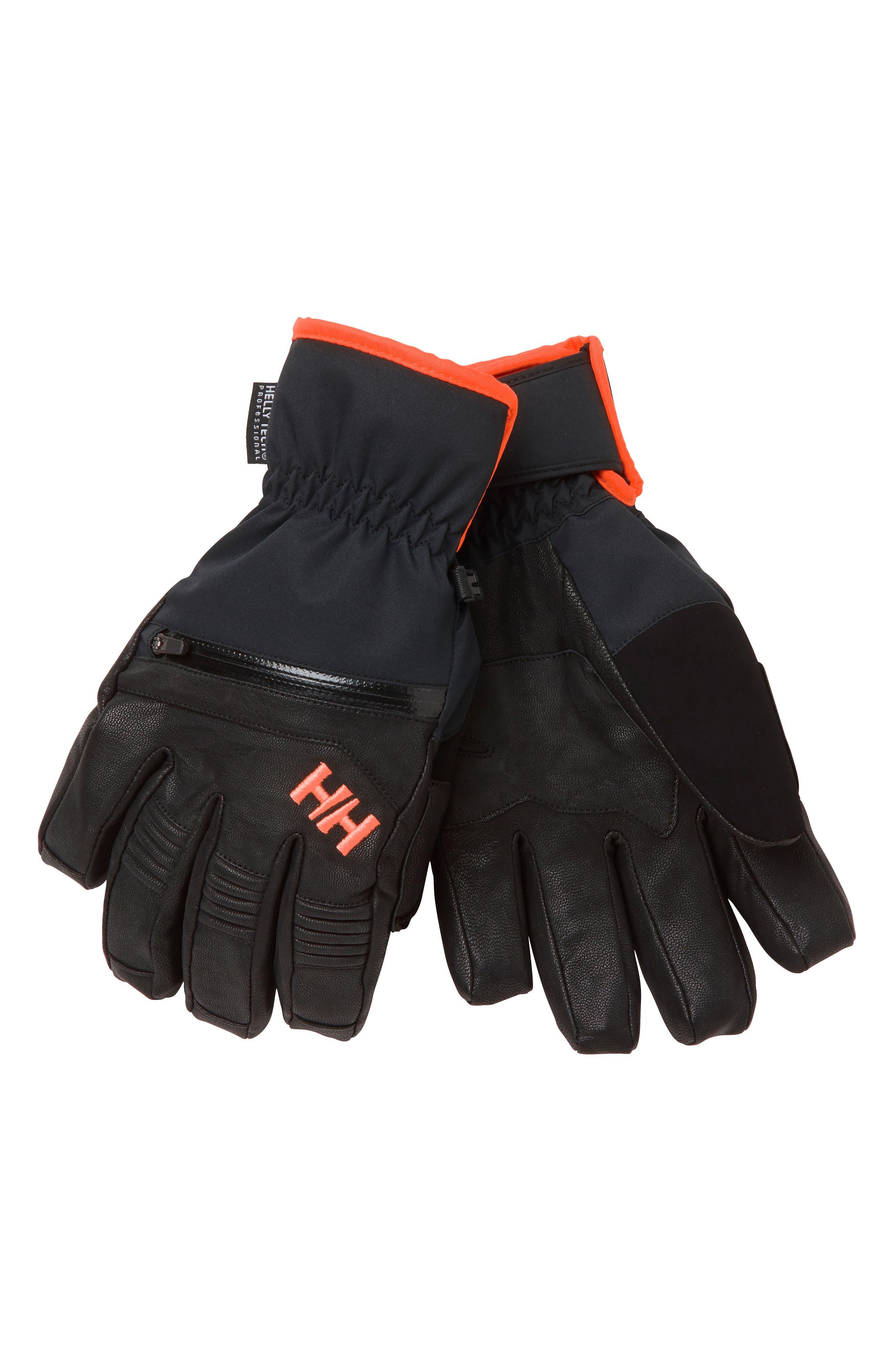 Helly Hansen Alpha Warm Helly Tech Ski Gloves, Black