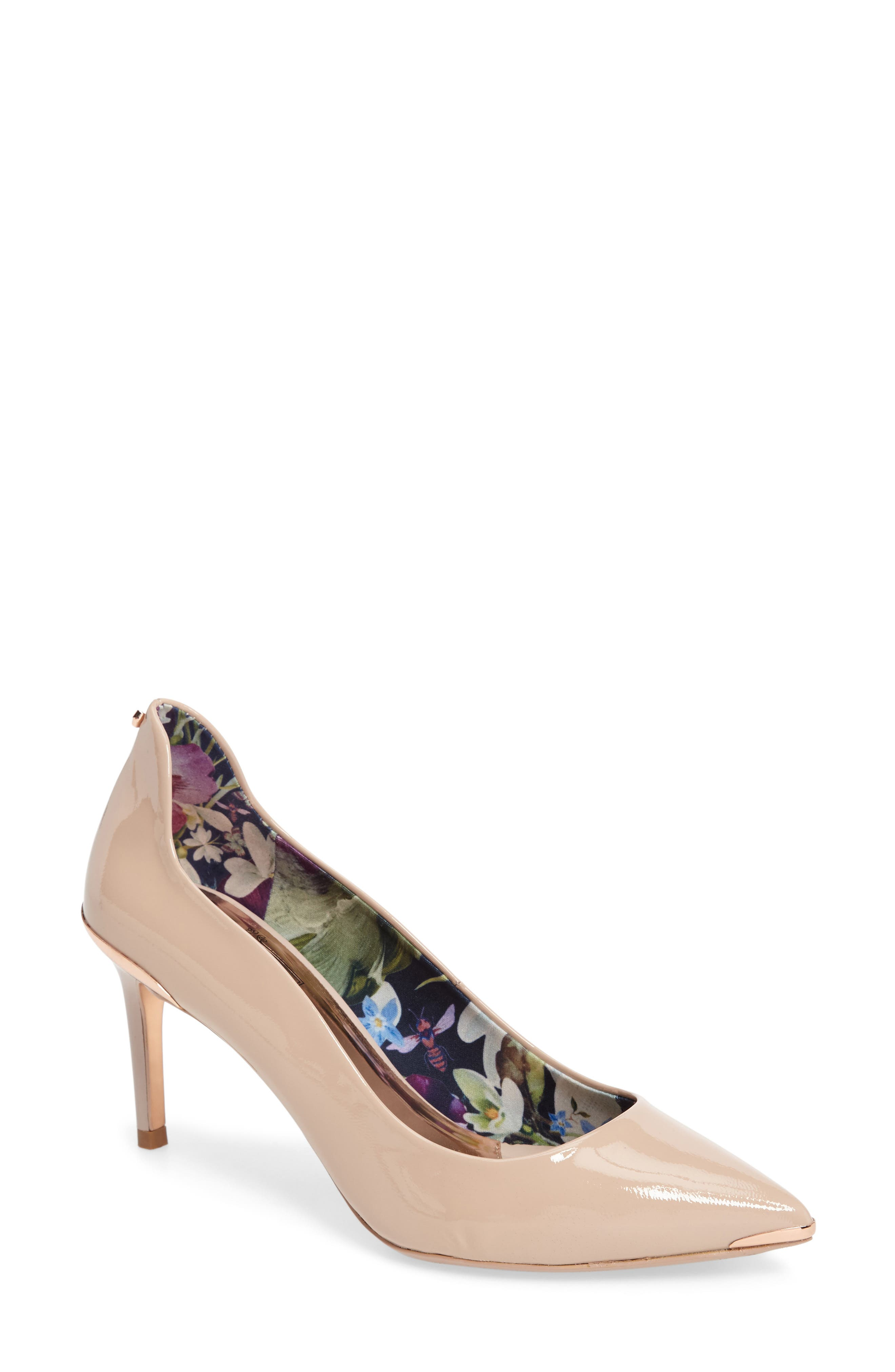 Vyixin Pump,                             Main thumbnail 1, color,                             NUDE PATENT LEATHER