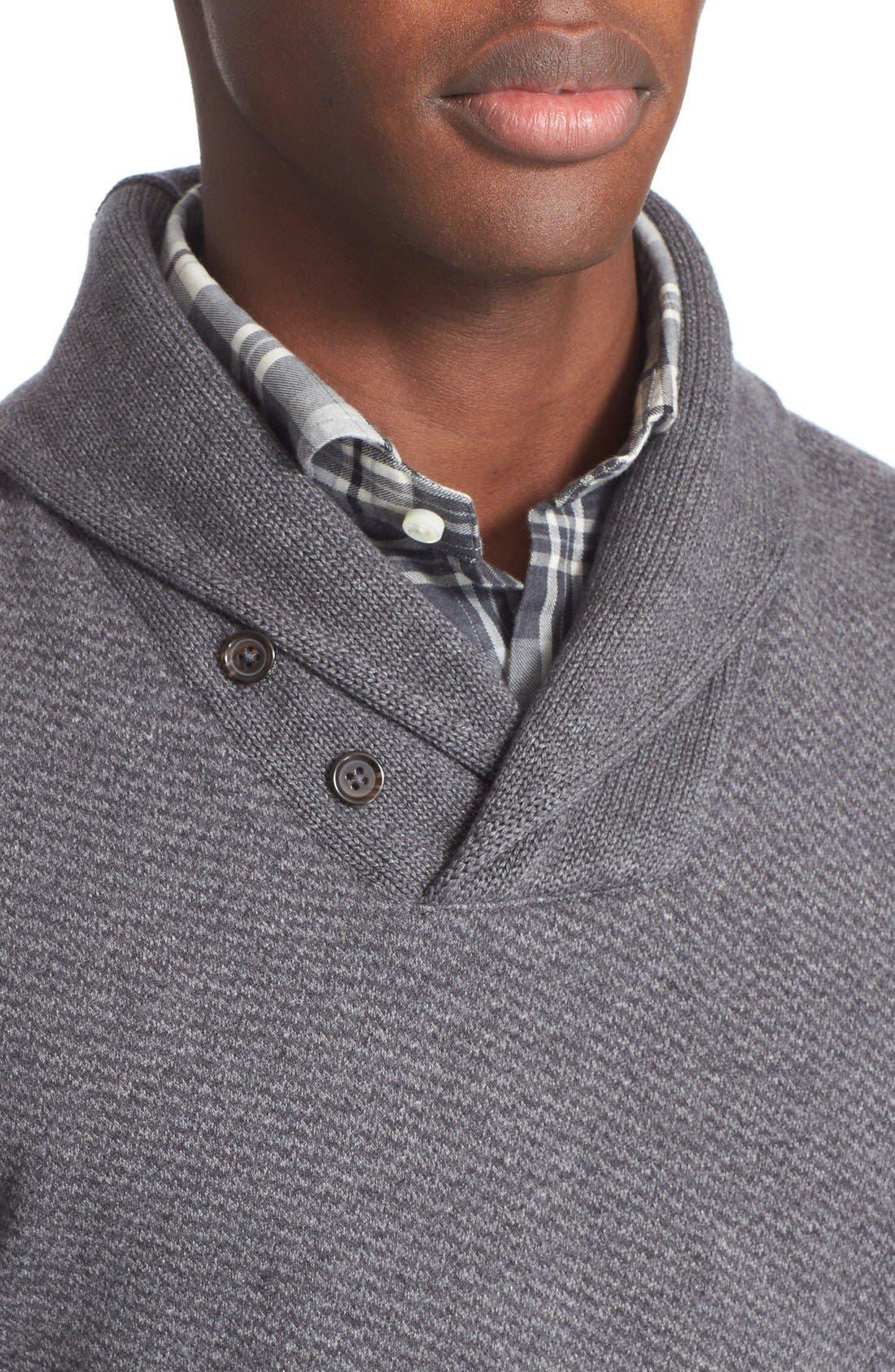 POLO RALPH LAUREN,                             Shawl Collar Sweater,                             Alternate thumbnail 3, color,                             020