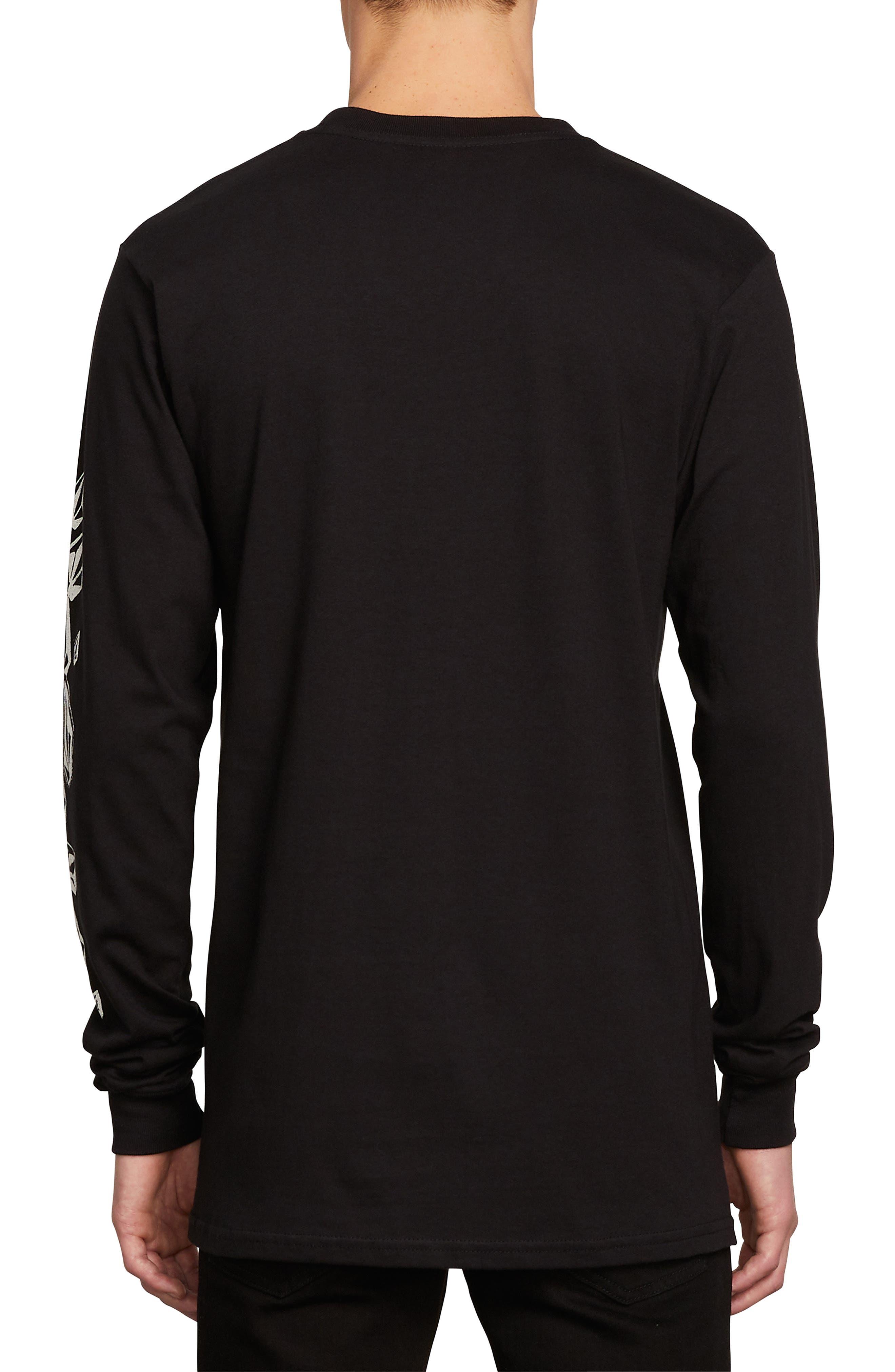Stone Spew T-Shirt,                             Alternate thumbnail 2, color,                             BLACK