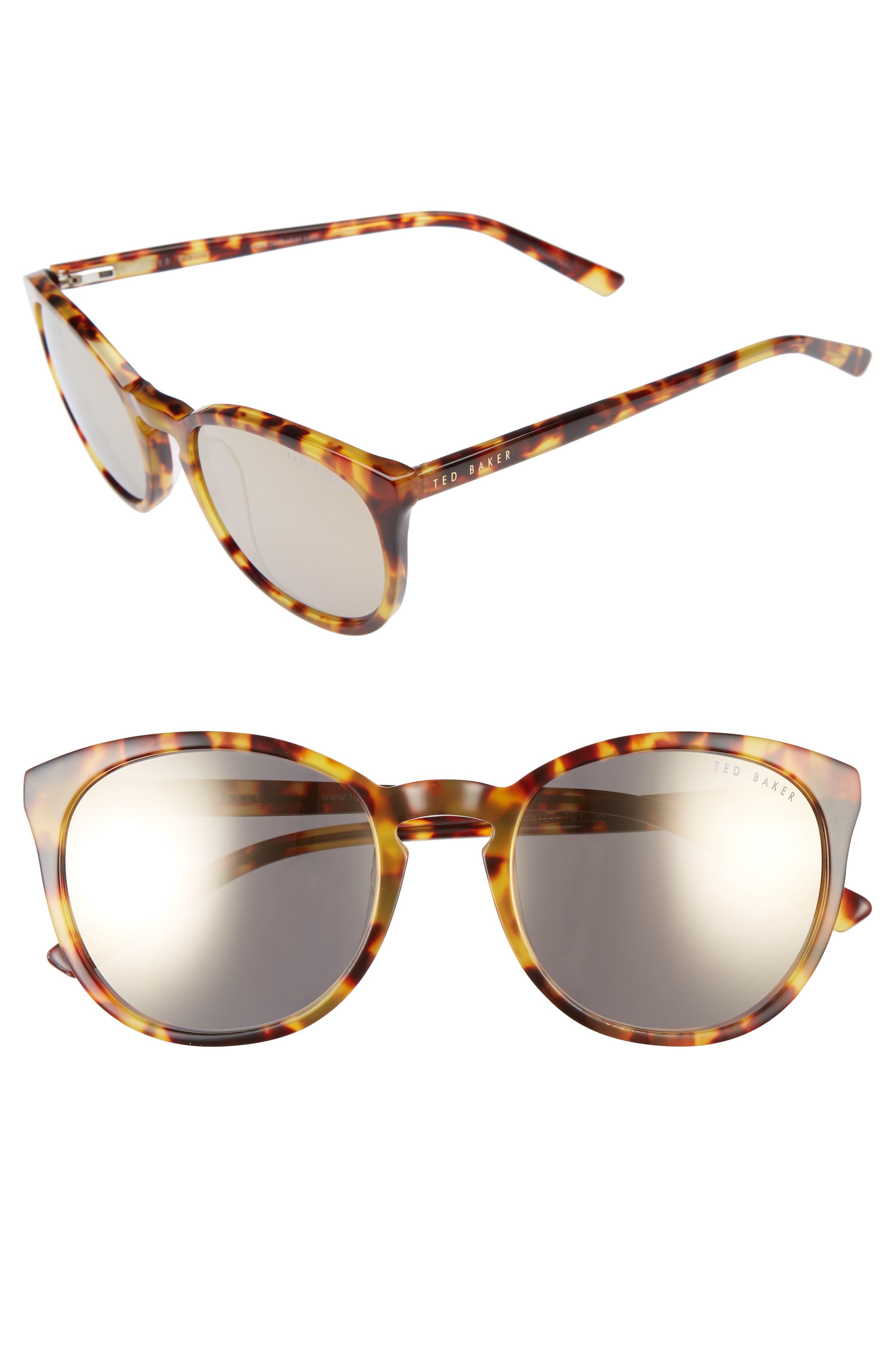 53mm Round Sunglasses,                             Main thumbnail 2, color,
