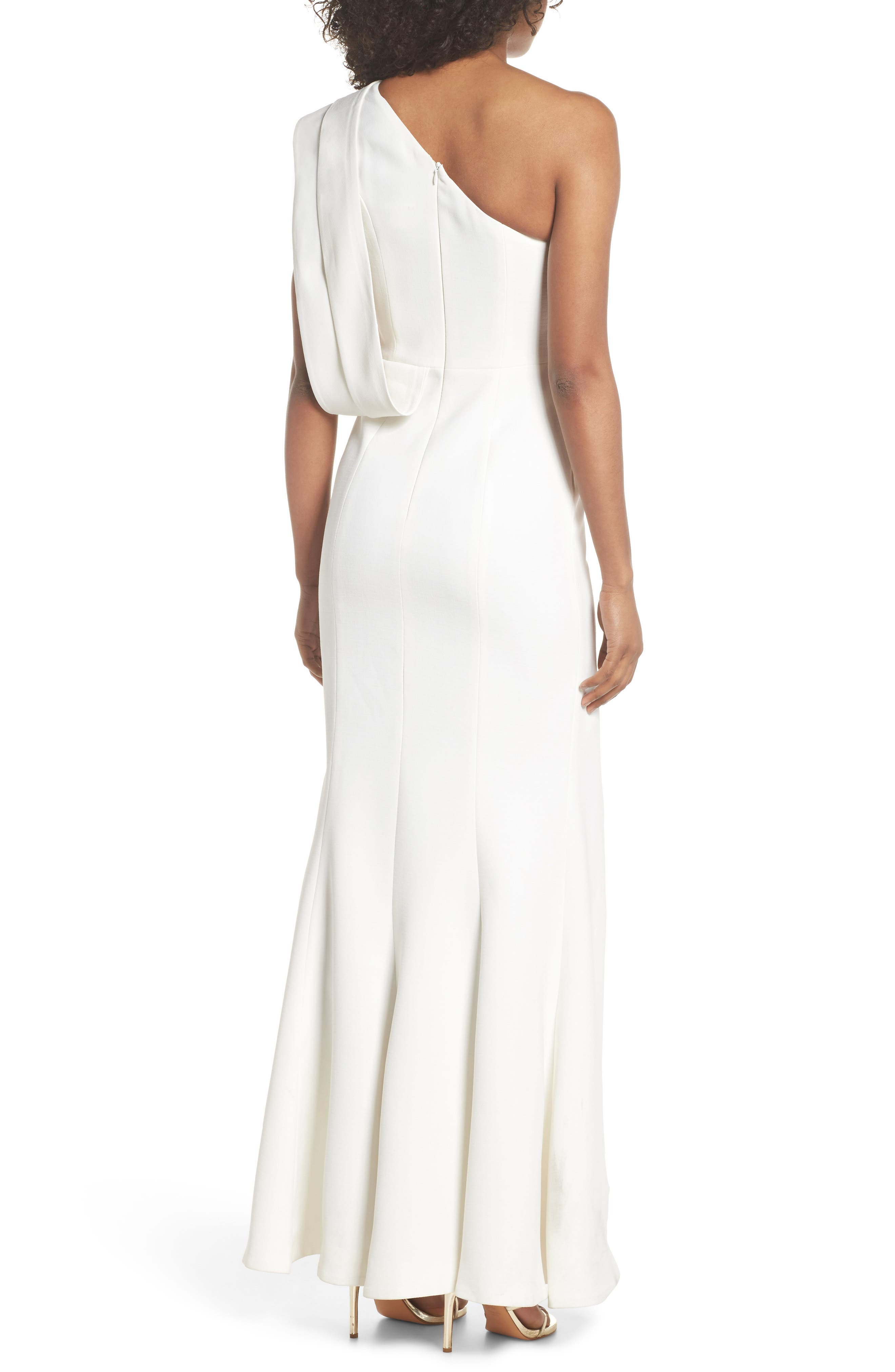 Be Moved One-Shoulder Gown,                             Alternate thumbnail 2, color,                             IVORY