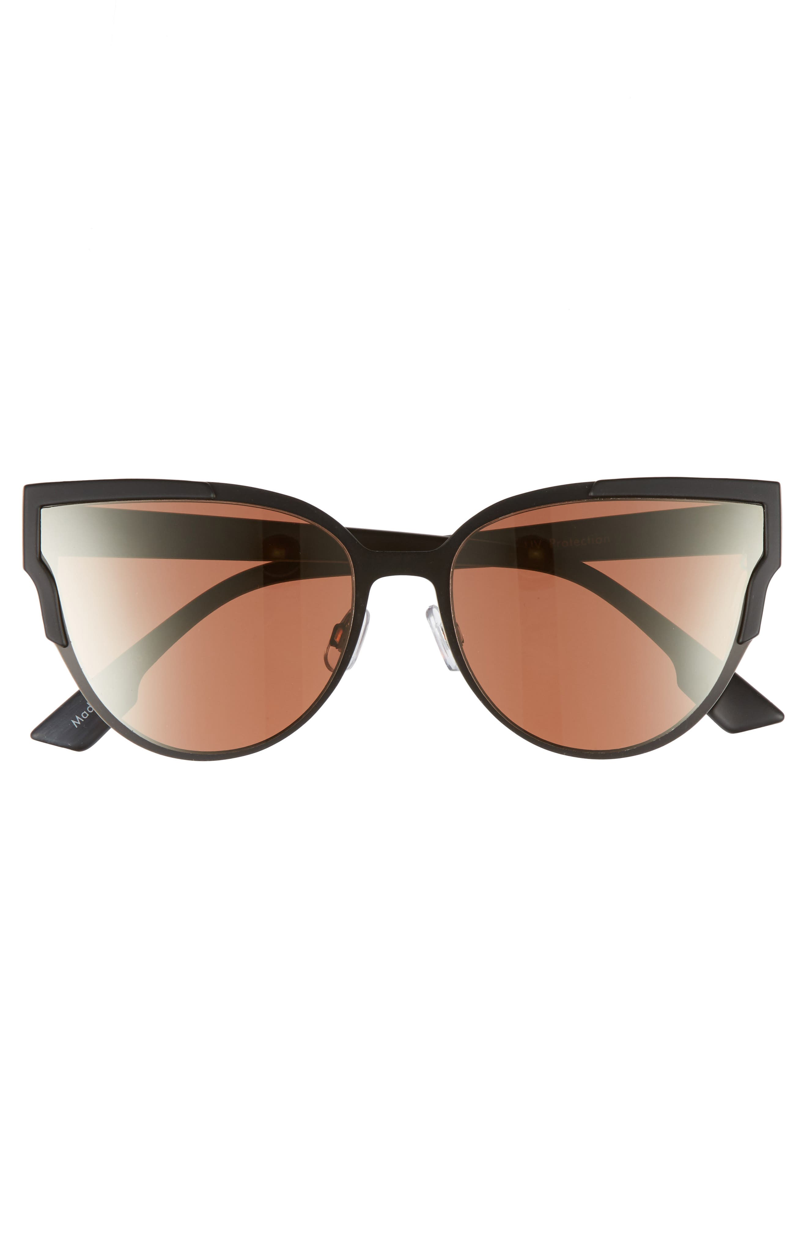 59mm Cat Eye Sunglasses,                             Alternate thumbnail 3, color,                             001