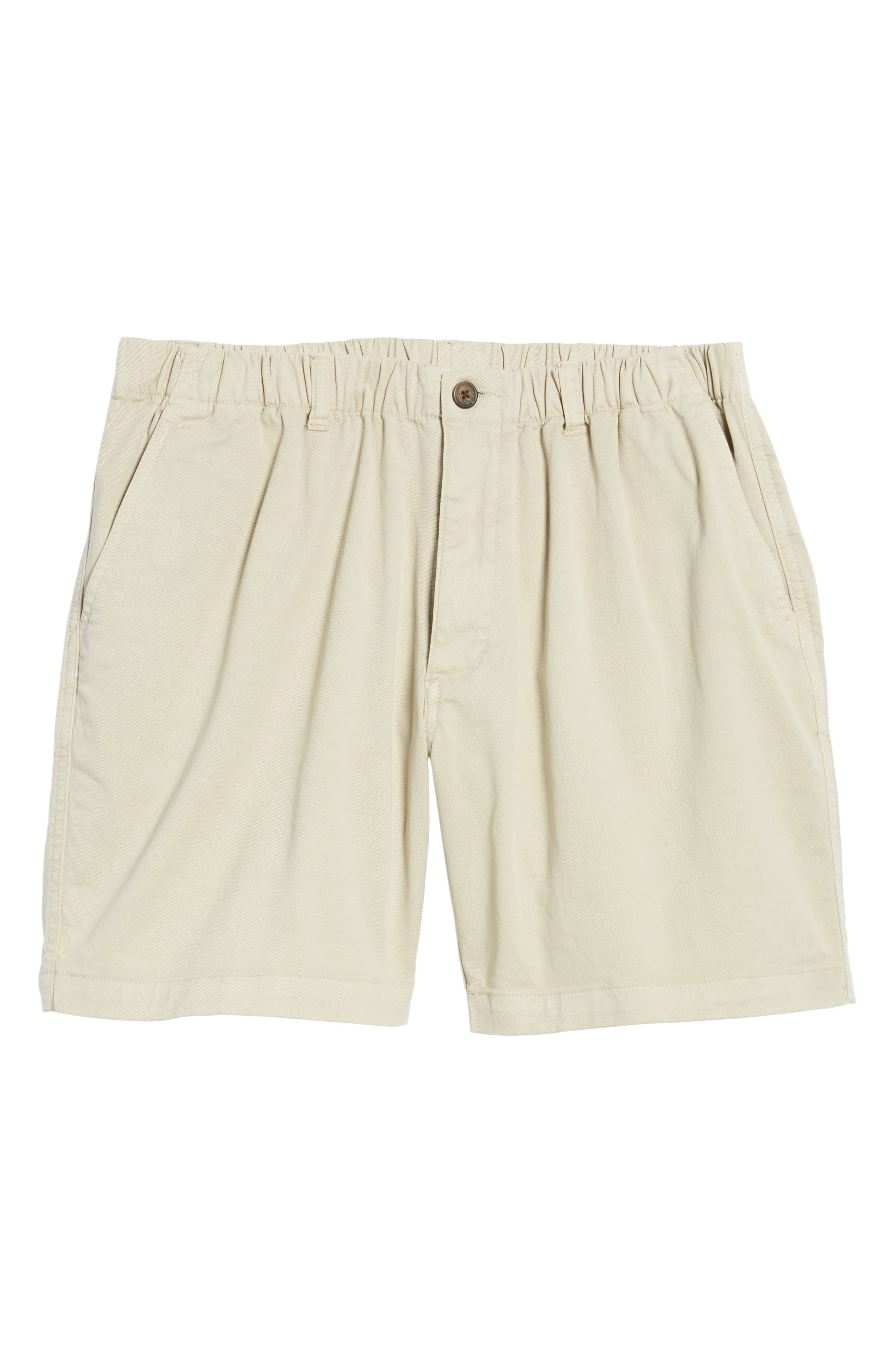 7in Snappers Elastic Waist Shorts,                             Alternate thumbnail 6, color,                             STONE
