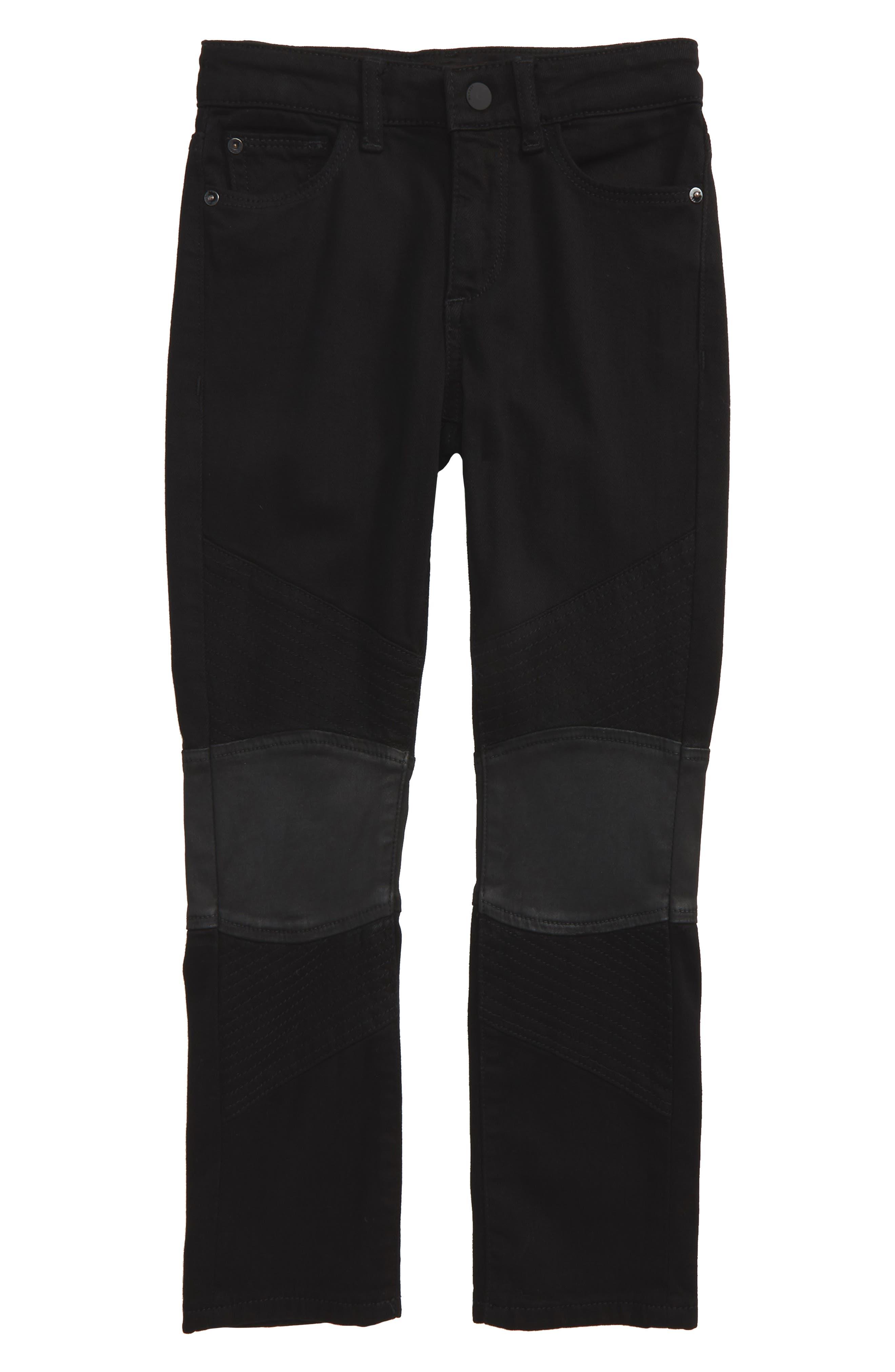 Hawke Skinny Moto Jeans, Main, color, 001