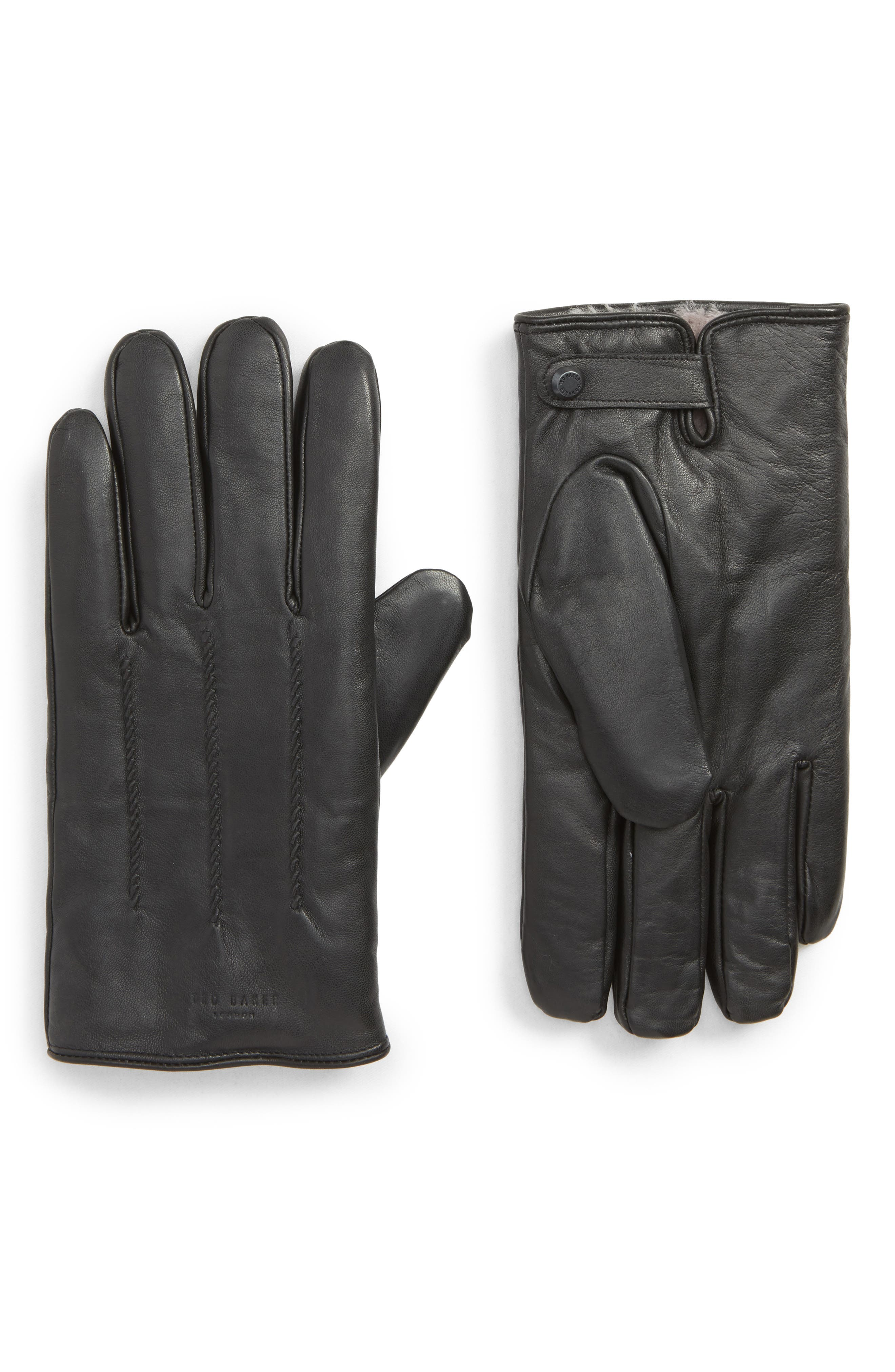 Leather Gloves,                         Main,                         color, 001
