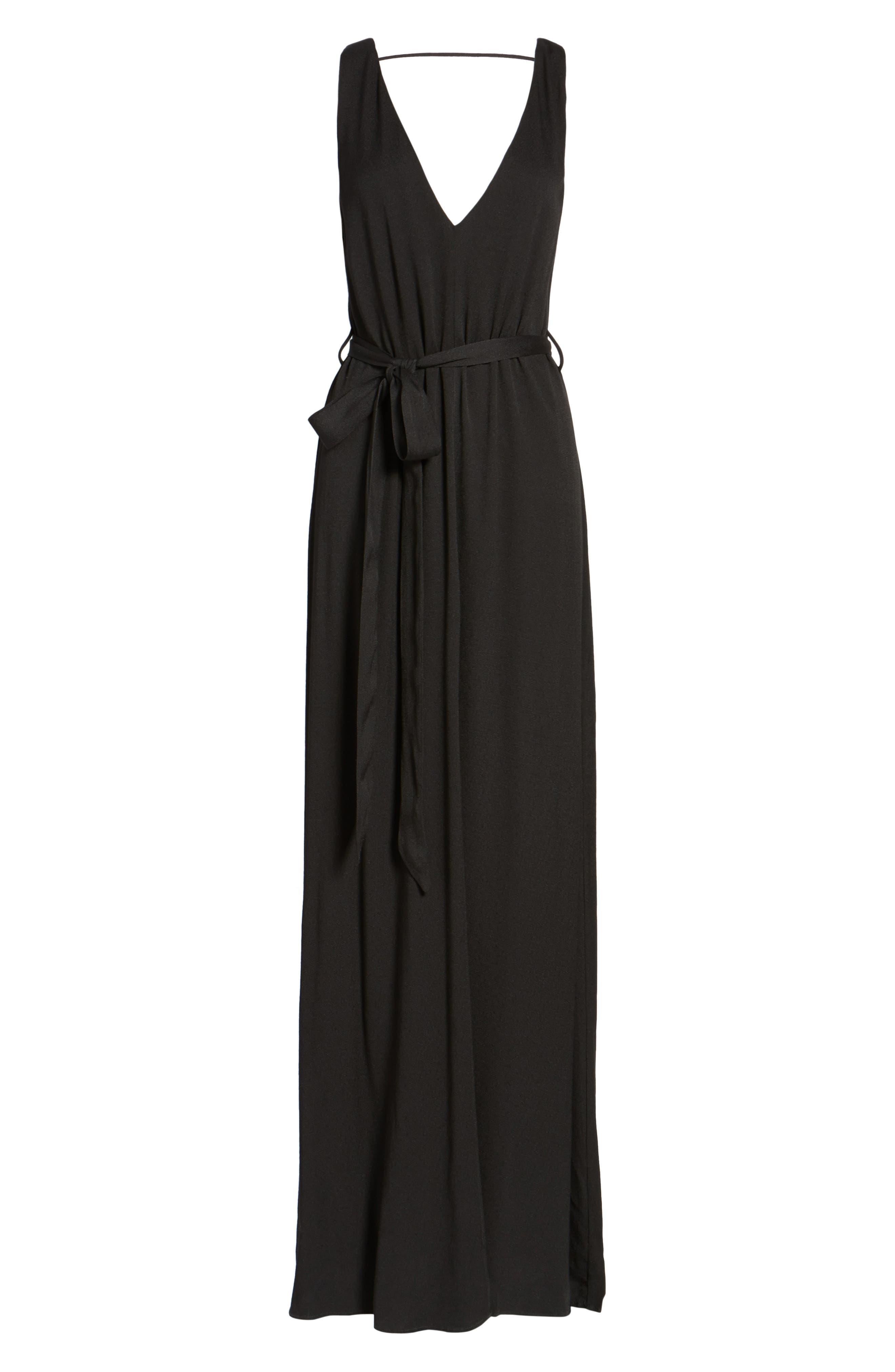 Rowan Maxi Dress,                             Alternate thumbnail 6, color,                             001
