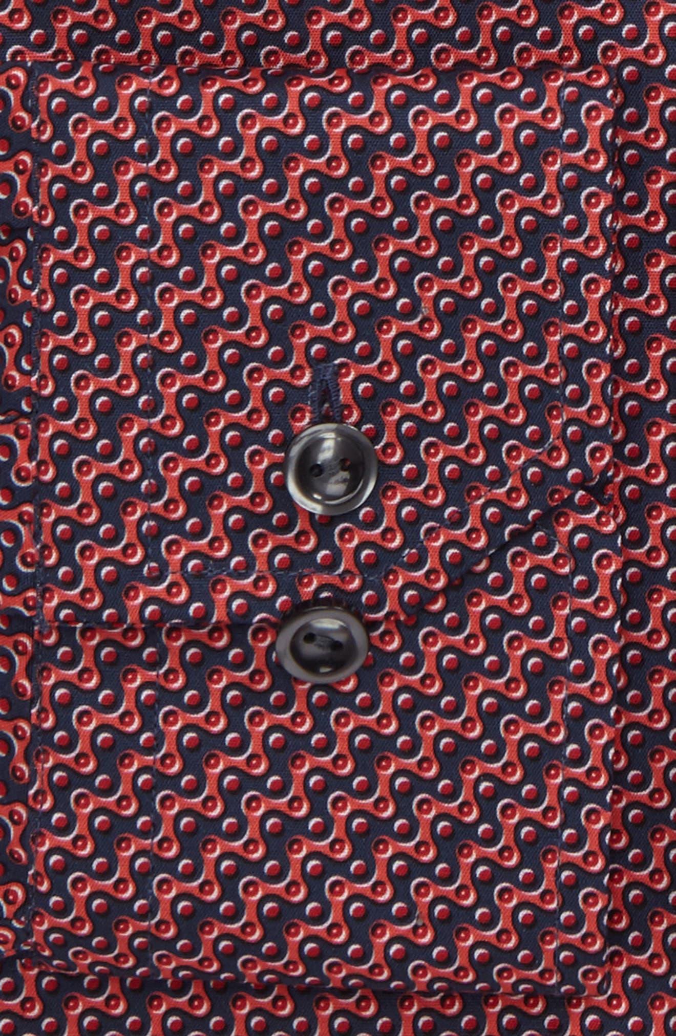 Slim Fit Print Dress Shirt,                             Alternate thumbnail 2, color,                             649