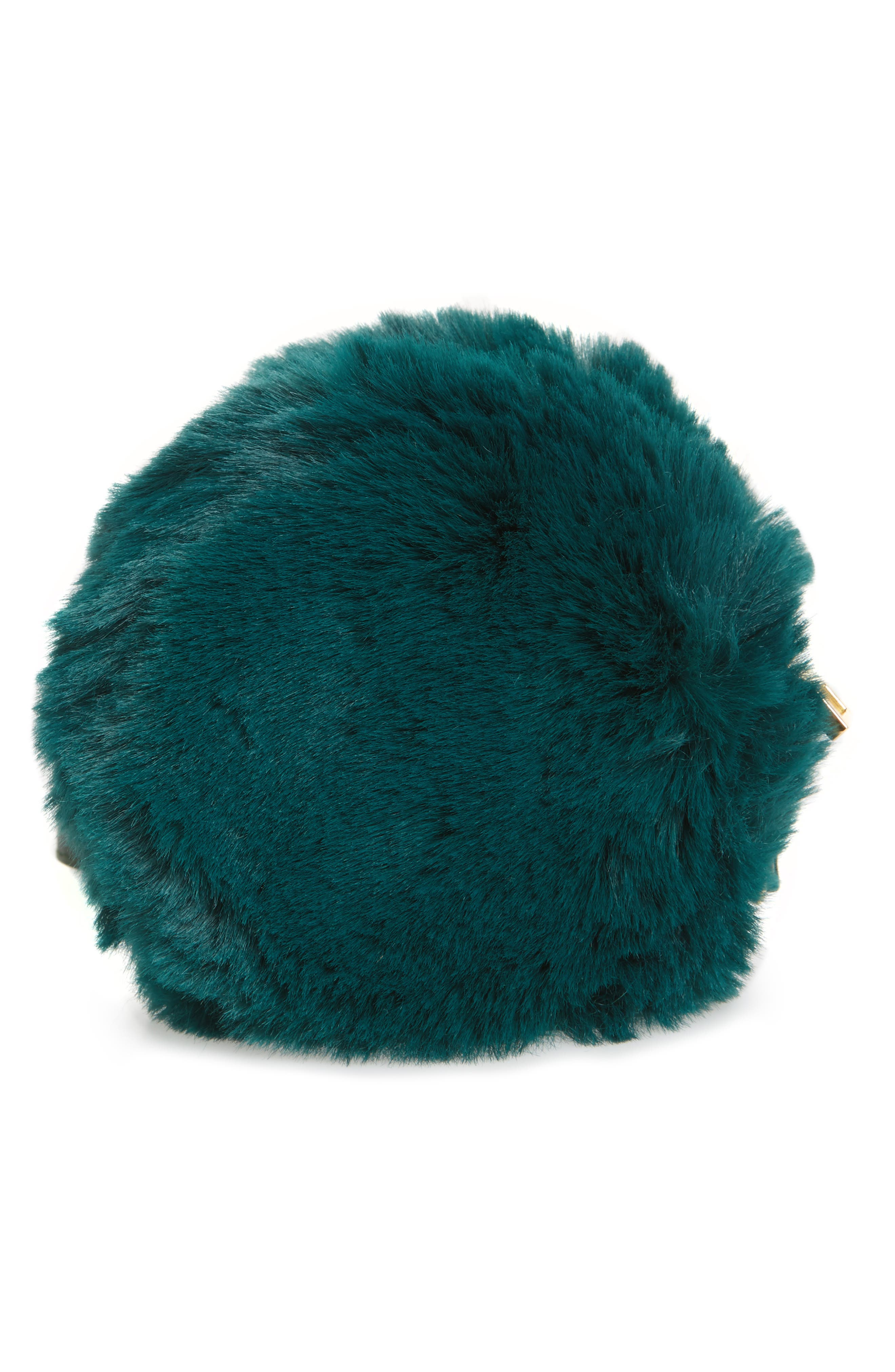 Macaron Faux Fur Wristlet,                             Alternate thumbnail 3, color,                             300