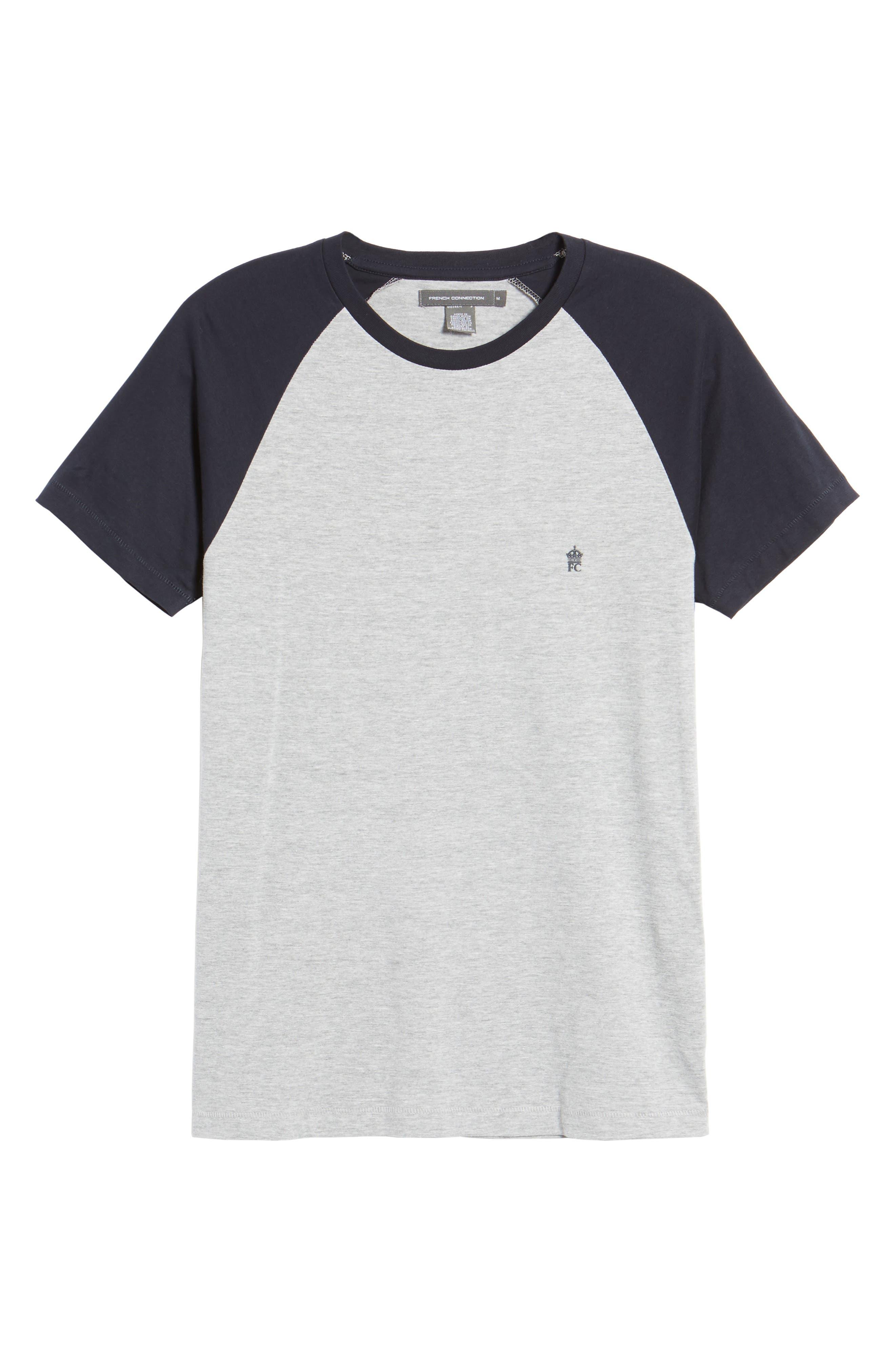 Raglan Short Sleeve T-Shirt,                             Alternate thumbnail 6, color,                             052