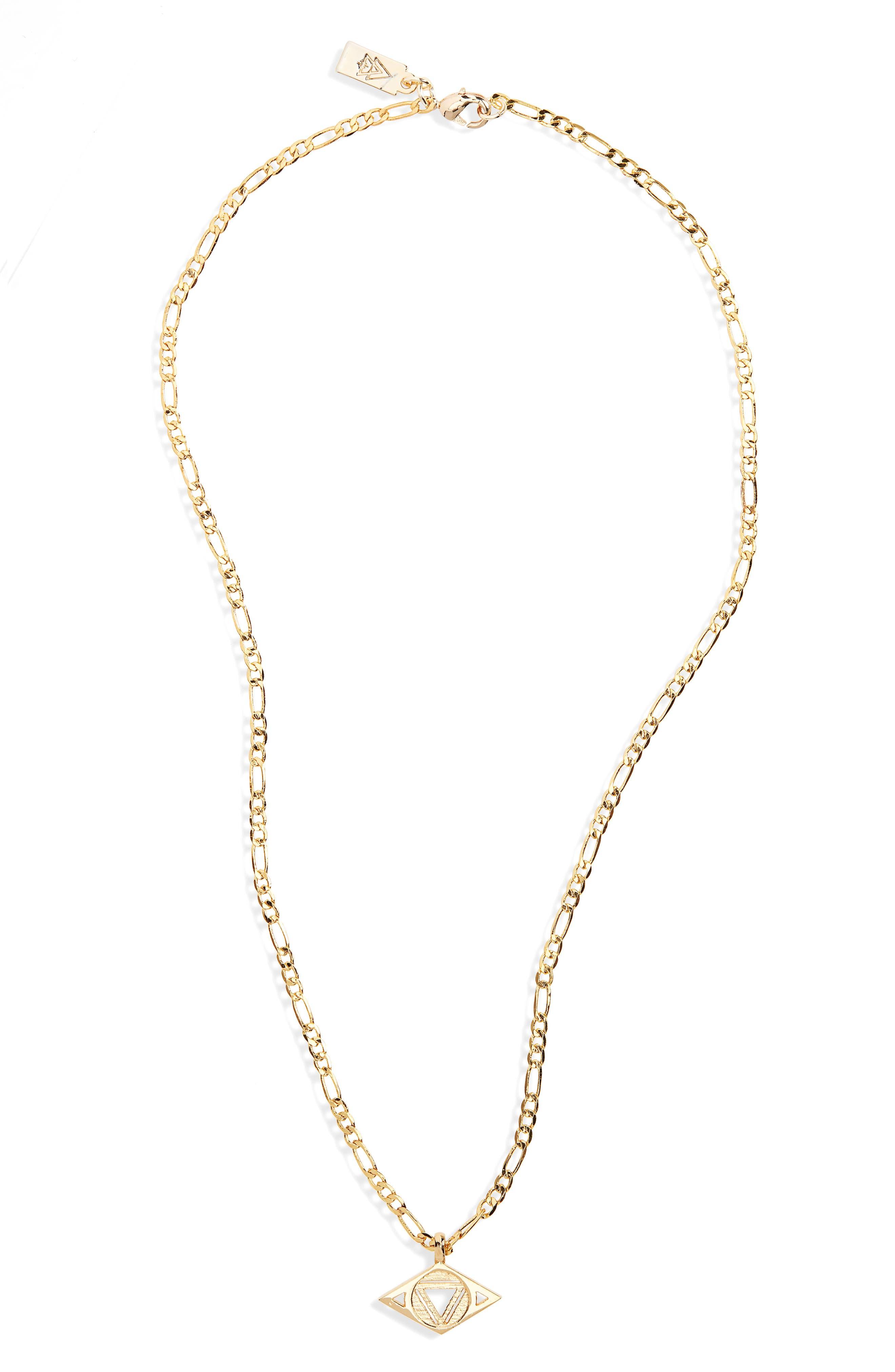 CAM,                             Third Eye Chakra Pendant Necklace,                             Main thumbnail 1, color,                             GOLD