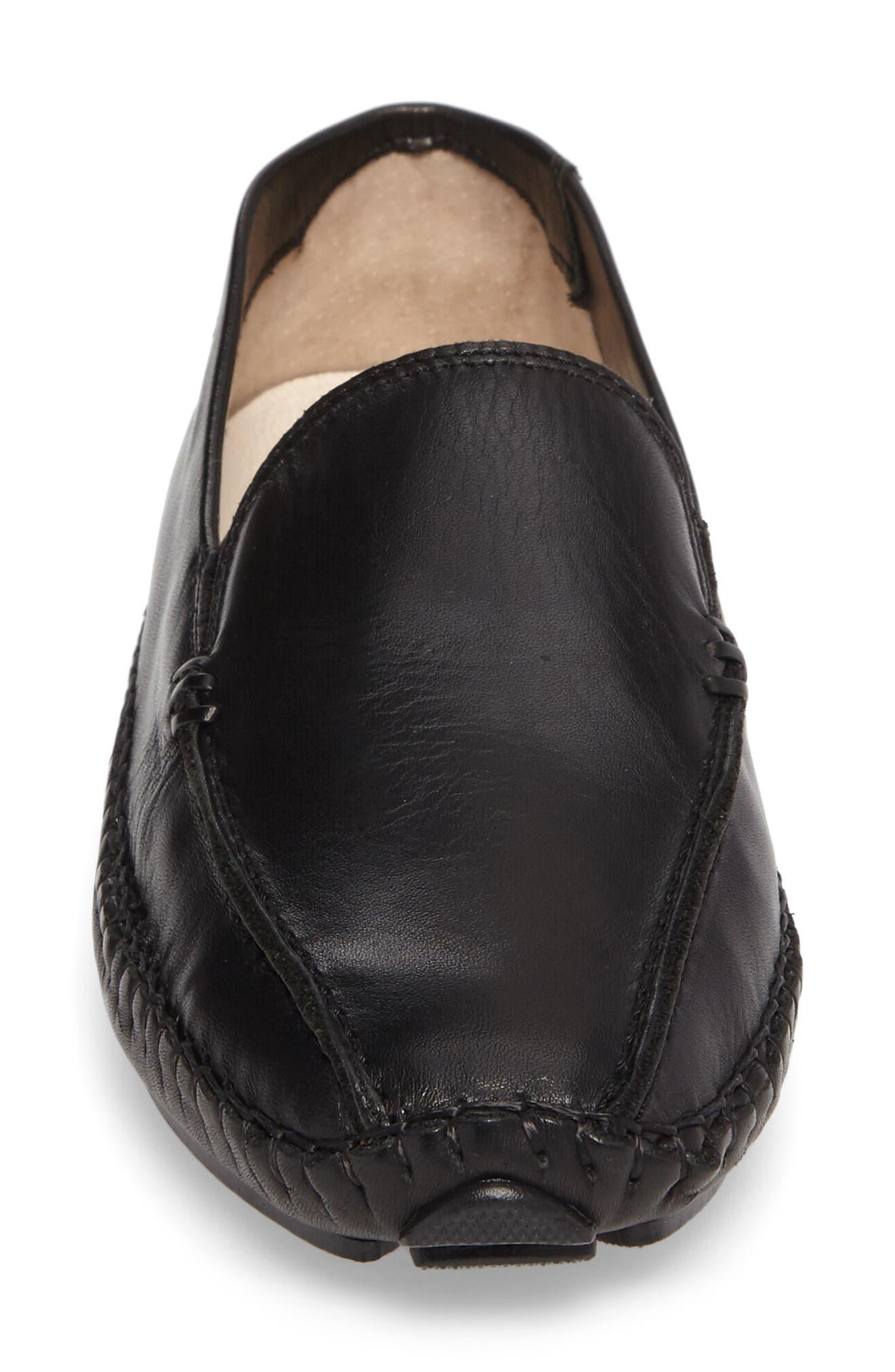 Jerez Loafer,                             Alternate thumbnail 4, color,                             BLACK LEATHER