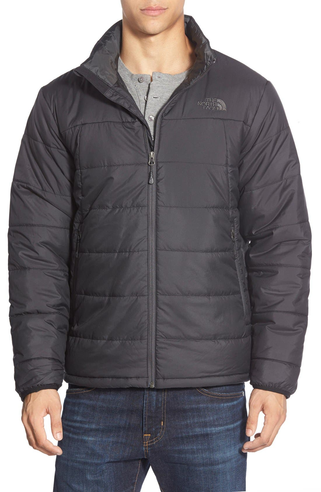 'Bombay' Quilted Jacket, Main, color, 001