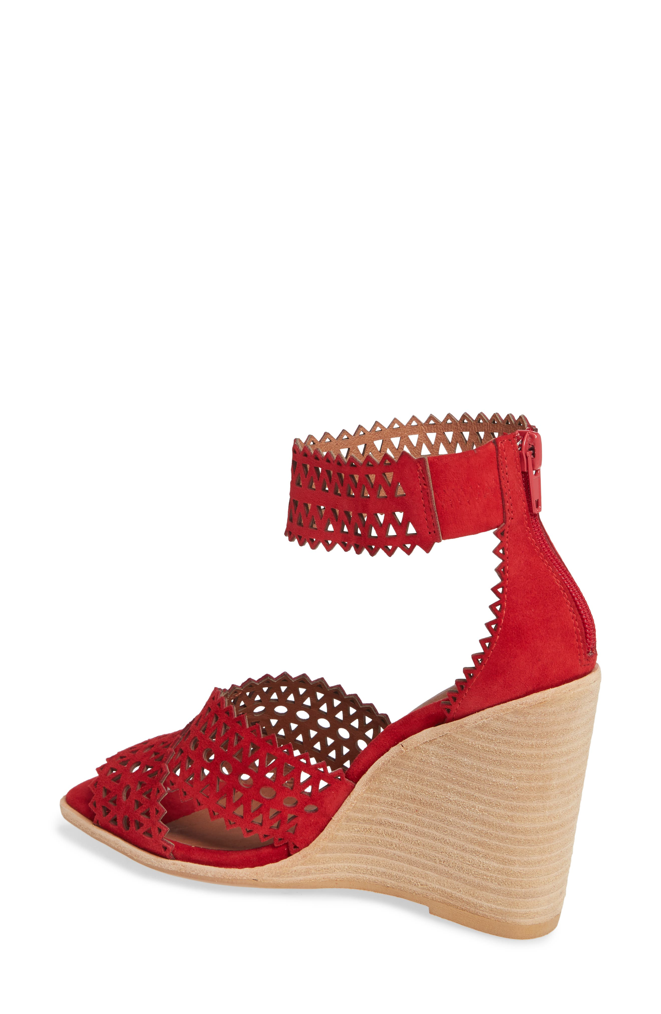 Besante Perforated Wedge Sandal,                             Alternate thumbnail 2, color,                             600
