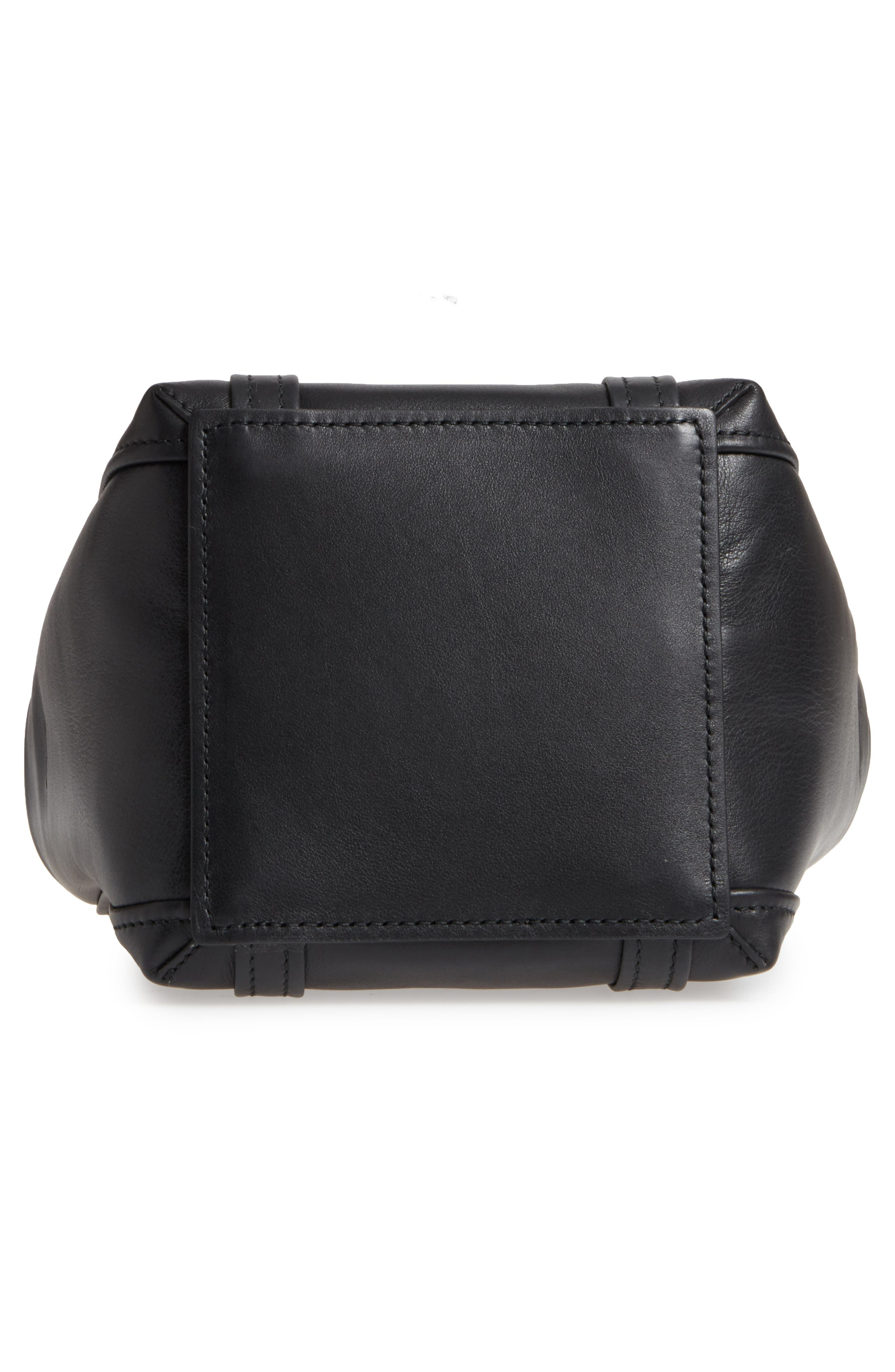 Extra Small Laundry Cabas Calfskin Tote,                             Alternate thumbnail 6, color,                             NOIR