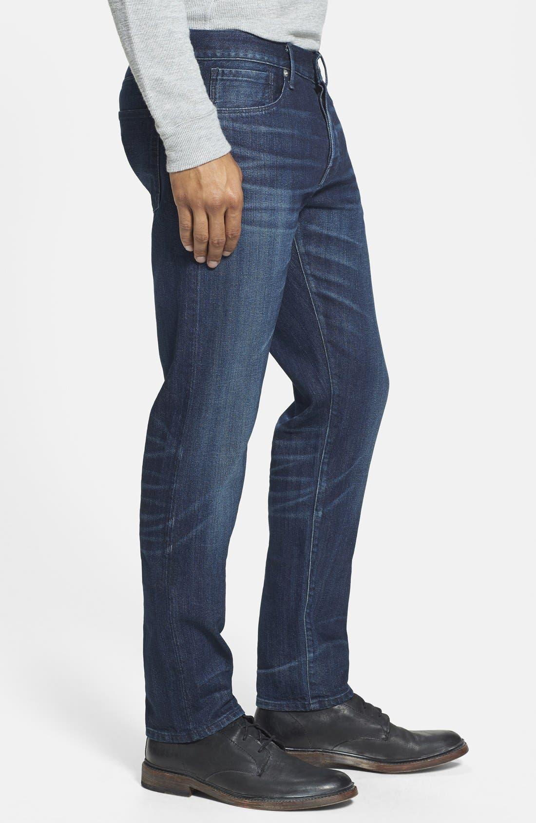 'M3' Slim Fit Selvedge Jeans,                             Alternate thumbnail 4, color,                             413