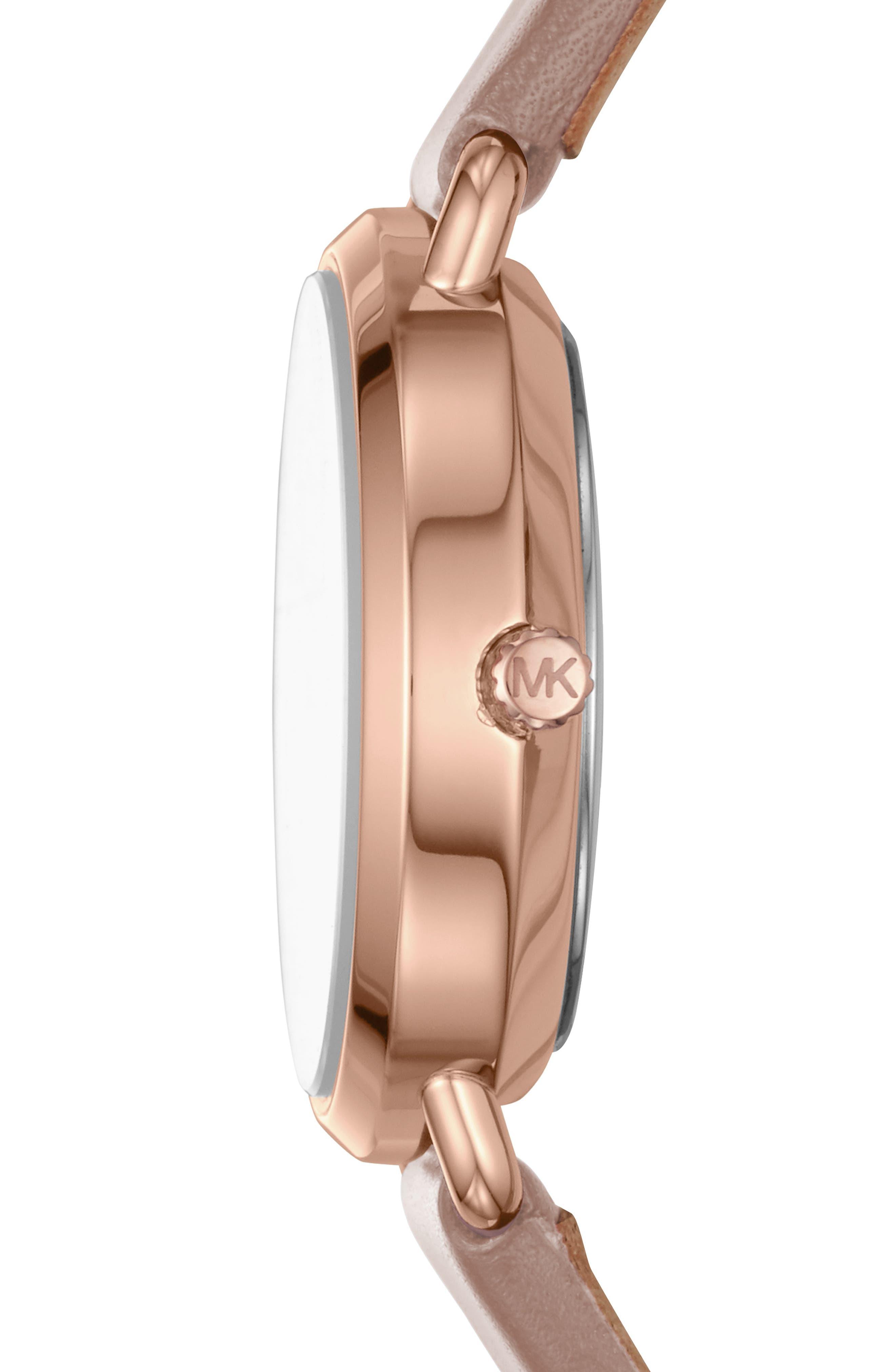 Mini Portia Leather Strap Watch, 28mm,                             Alternate thumbnail 8, color,