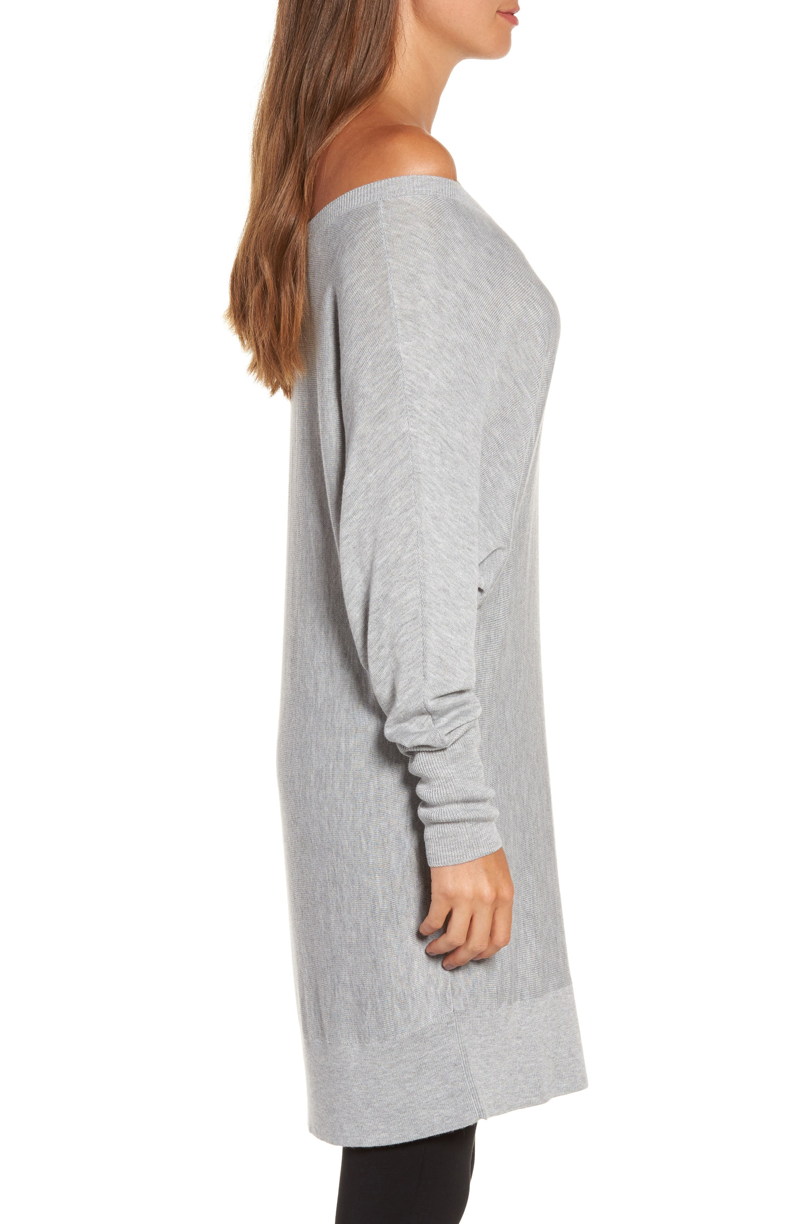 Off the Shoulder Sweater Tunic,                             Alternate thumbnail 15, color,