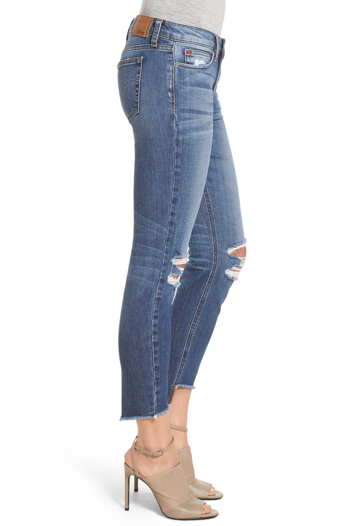 'Collector's - Blondie' Destroyed Ankle Skinny Jeans,                             Alternate thumbnail 4, color,                             410