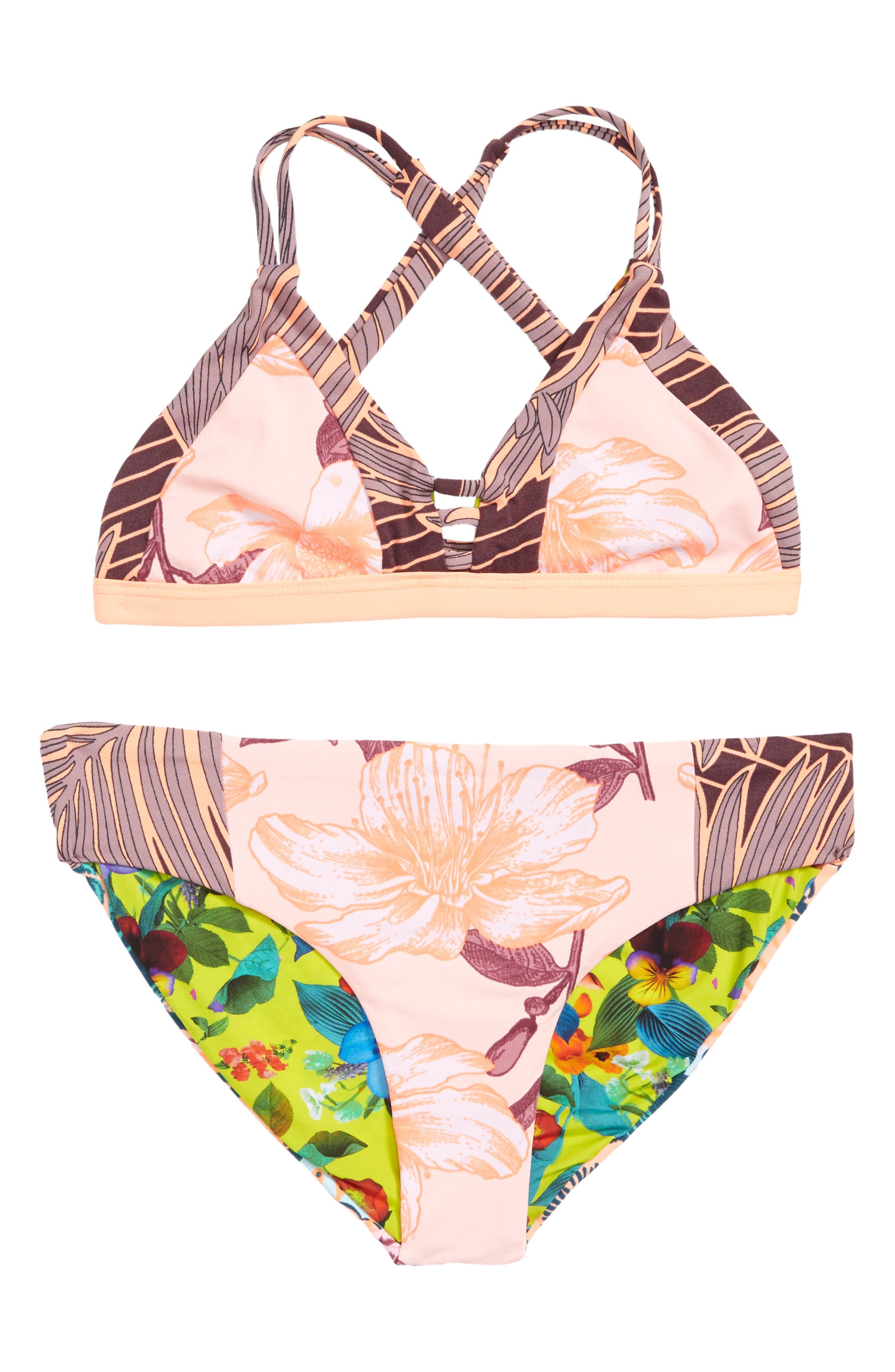 Sandy Sandbells Reversible Two-Piece Swimsuit,                         Main,                         color,