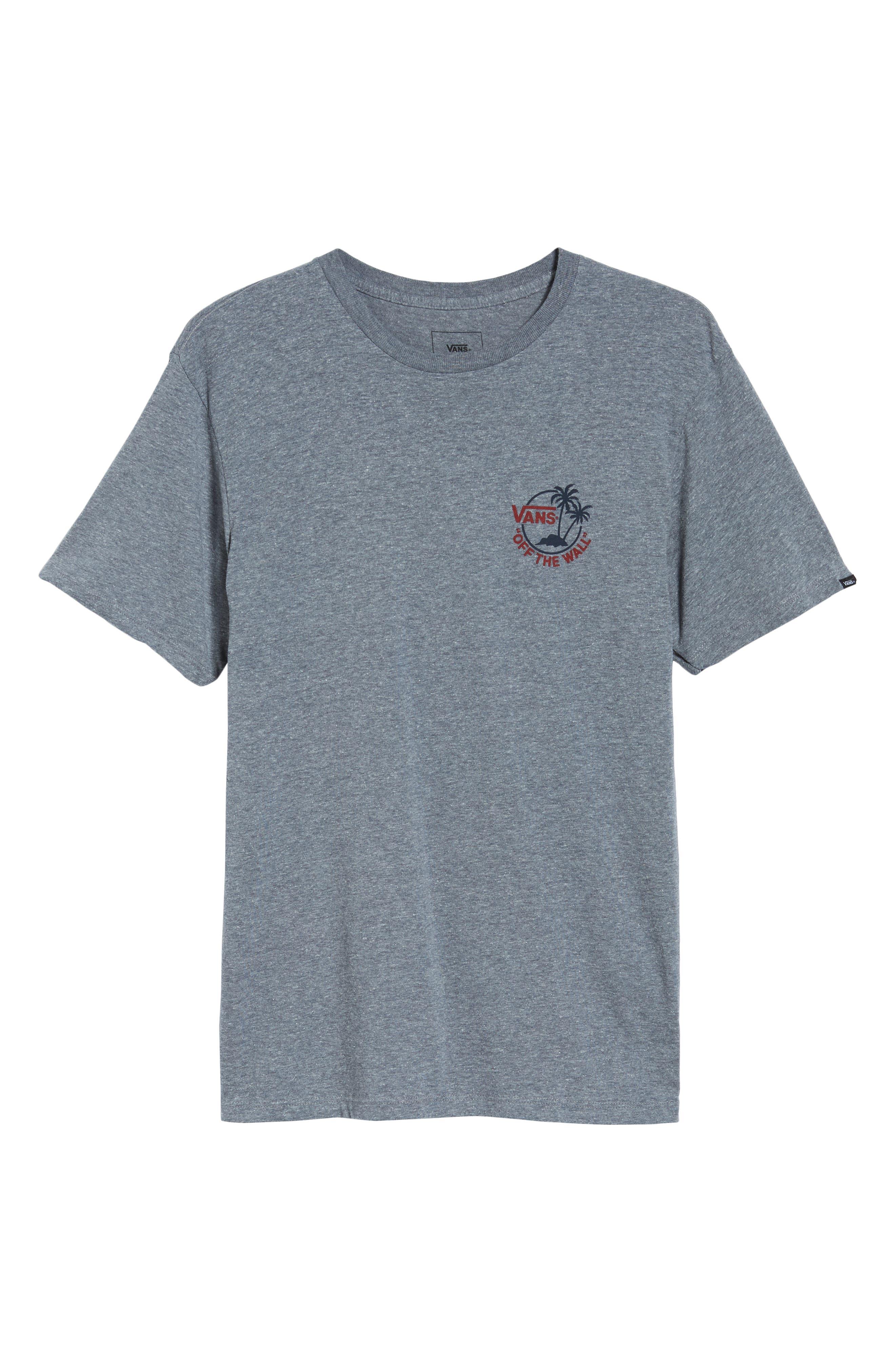 Mini Dual Palm III T-Shirt,                             Alternate thumbnail 6, color,                             HEATHER GREY/ CHILI PEPPER