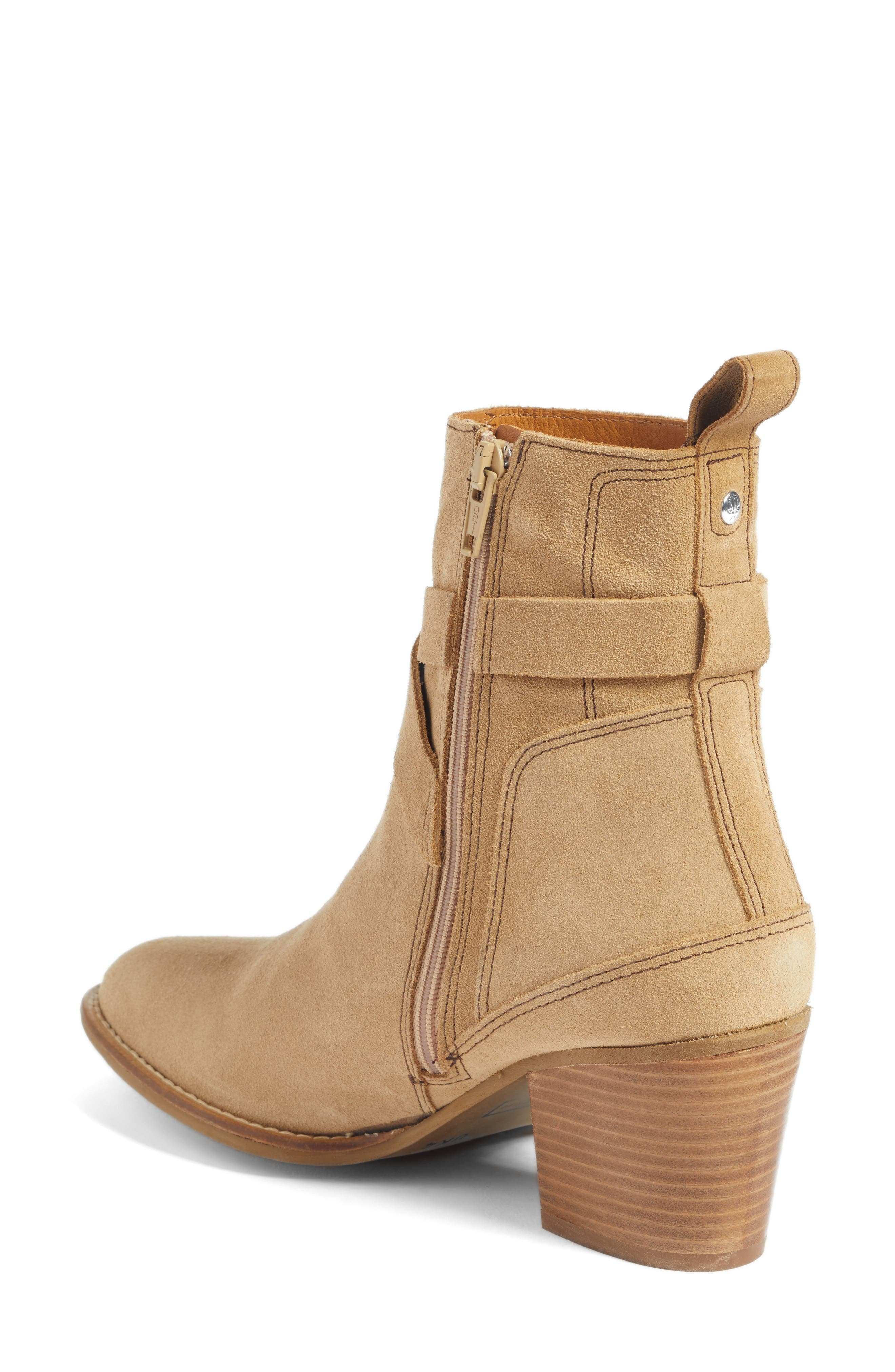 Refined Water Resistant Strappy Boot,                             Alternate thumbnail 4, color,