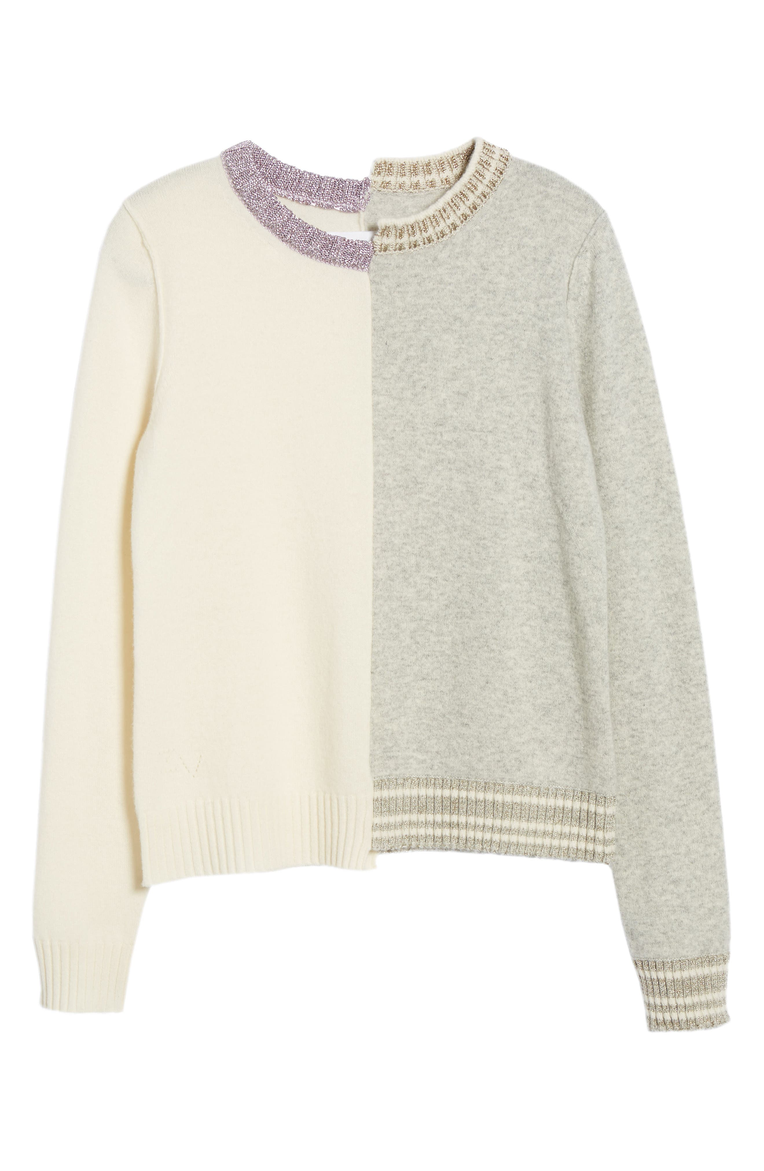 Source Two-Tone Wool & Cashmere Sweater,                             Alternate thumbnail 6, color,                             060