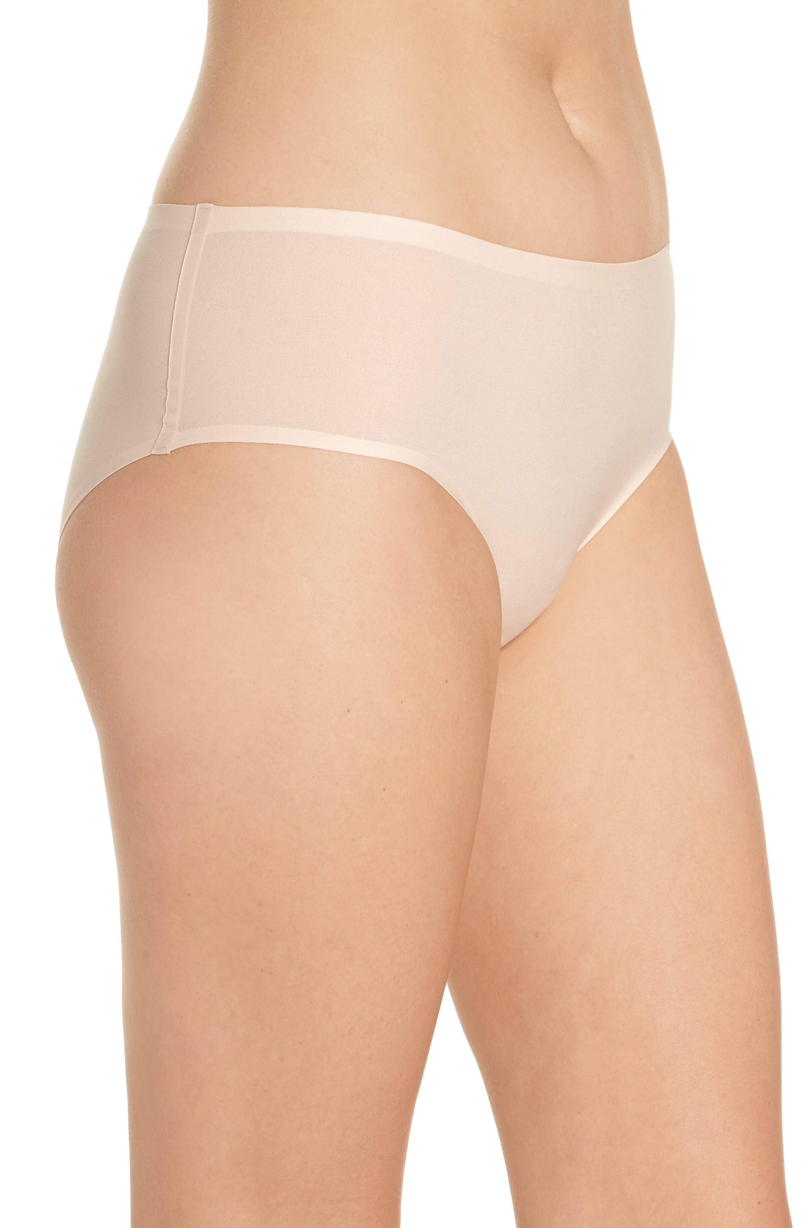 Soft Stretch Seamless Hipster Panties,                             Alternate thumbnail 3, color,                             NUDE BLUSH