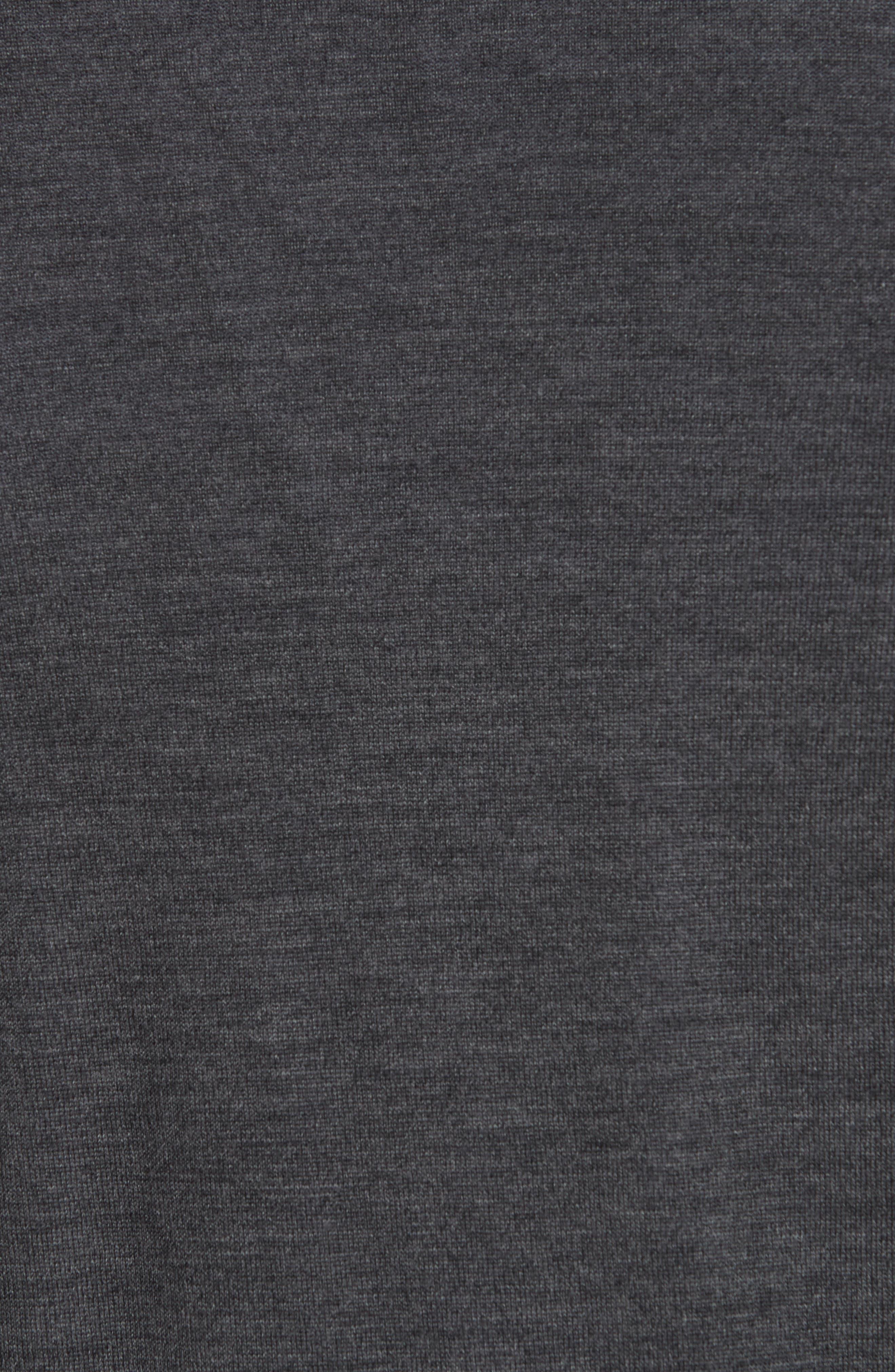 Trim Fit Merino Wool & Silk Cardigan,                             Alternate thumbnail 5, color,                             GREY