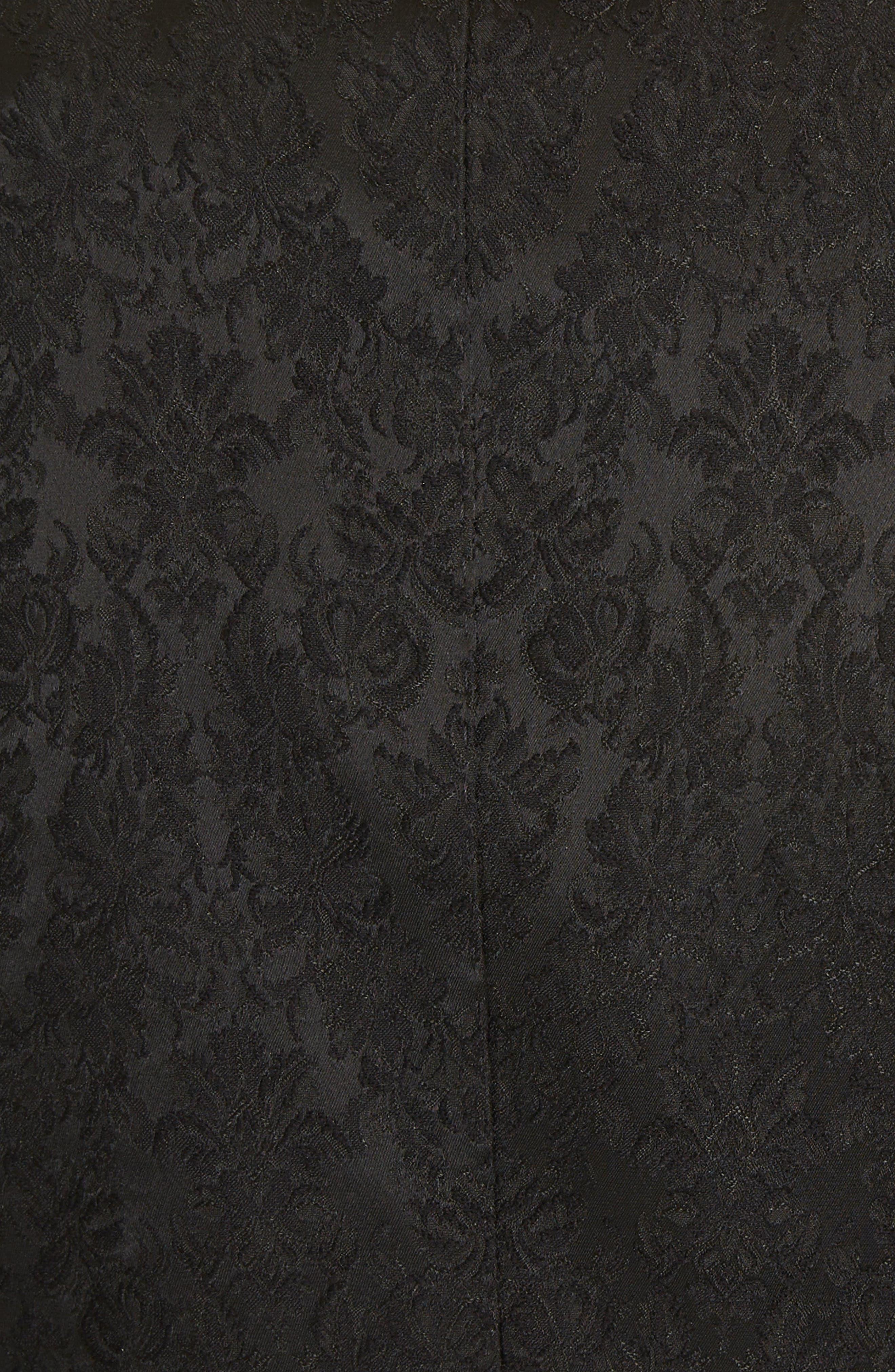 Jacquard Blazer,                             Alternate thumbnail 6, color,                             N0000 BLACK