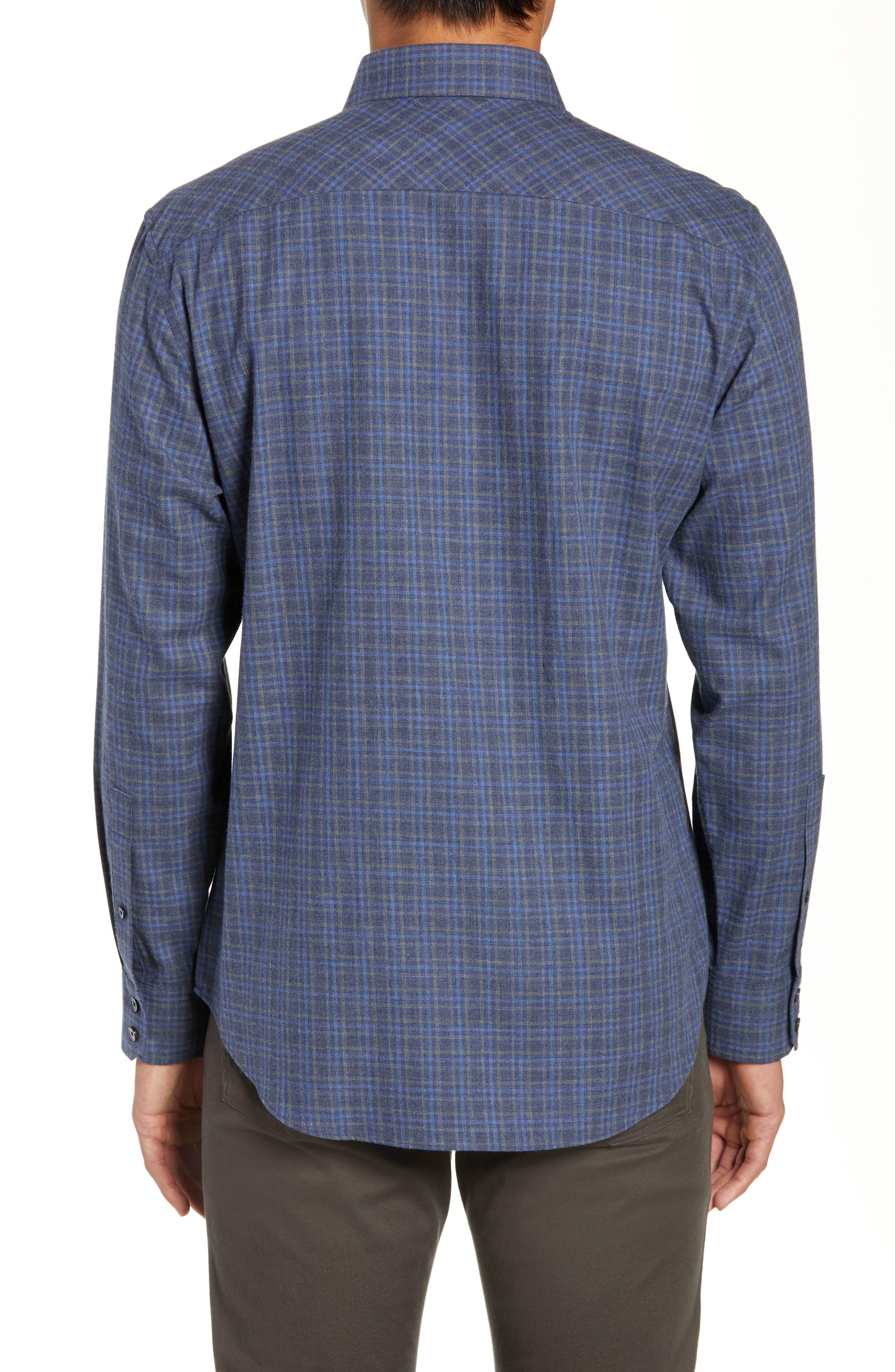 Nguyen Regular Fit Sport Shirt,                             Alternate thumbnail 3, color,                             DARK BLUE