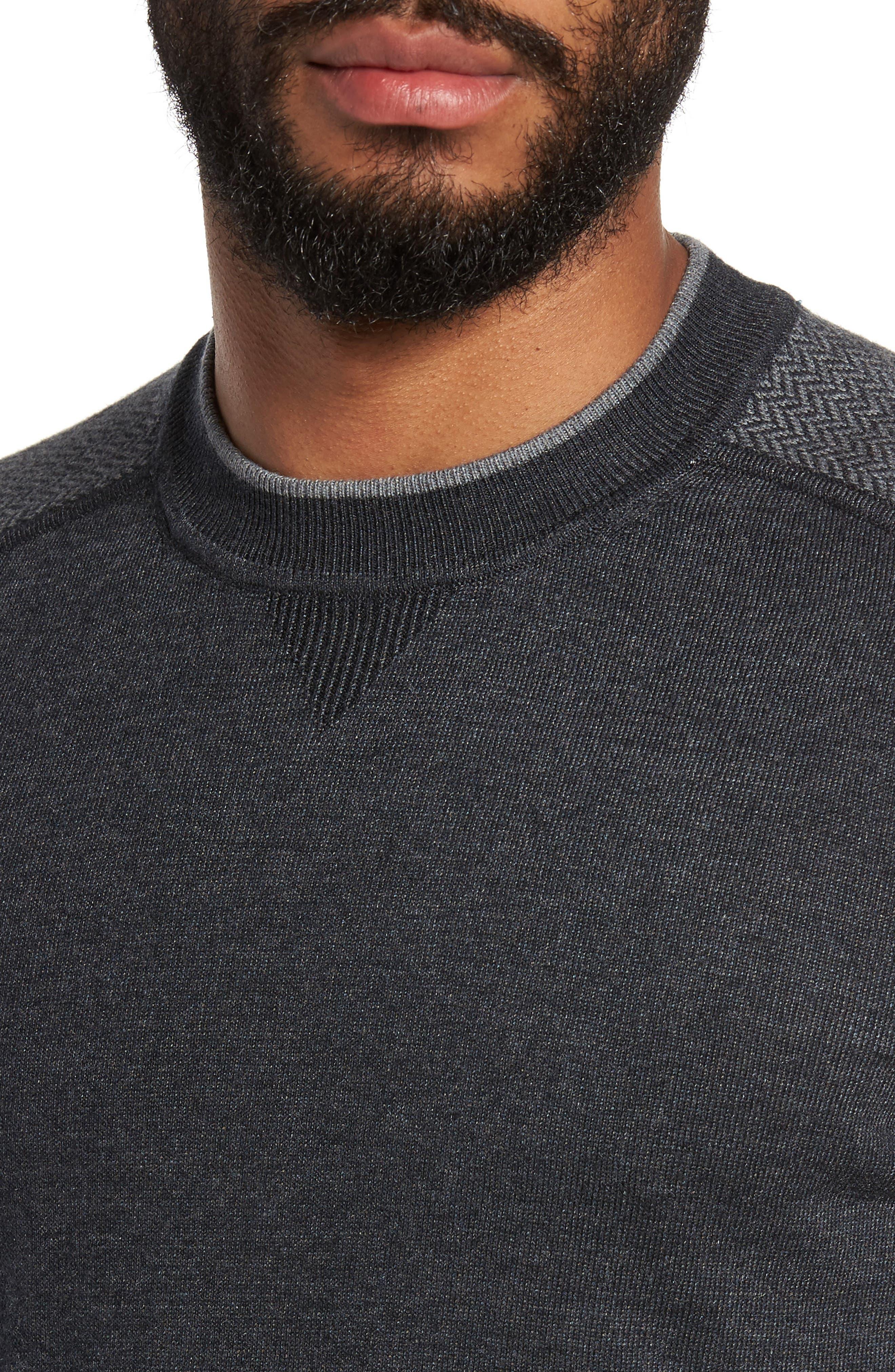 Pepmint Herringbone Sleeve Sweatshirt,                             Alternate thumbnail 7, color,