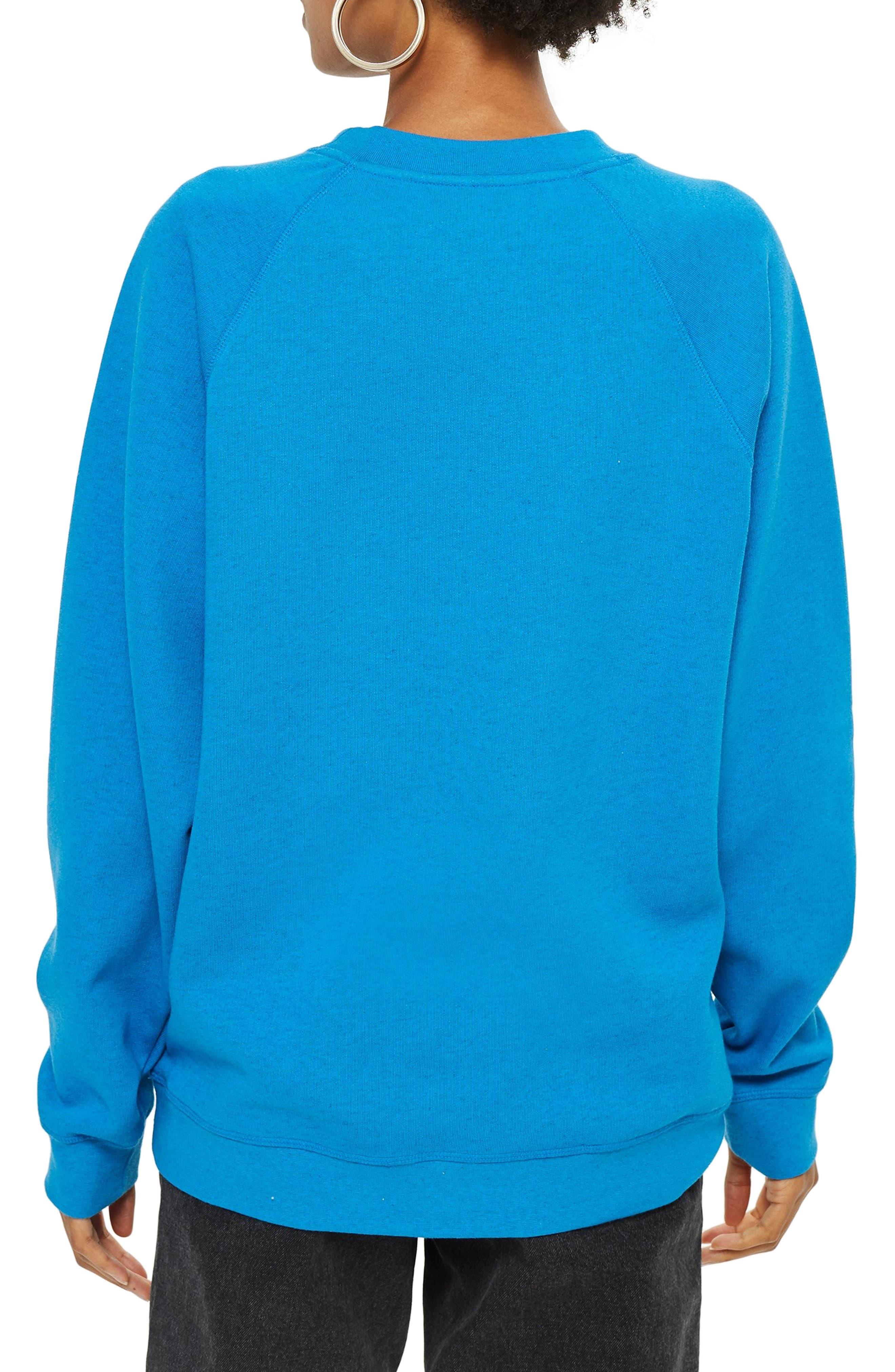 Crewneck Sweatshirt,                             Alternate thumbnail 2, color,                             BLUE