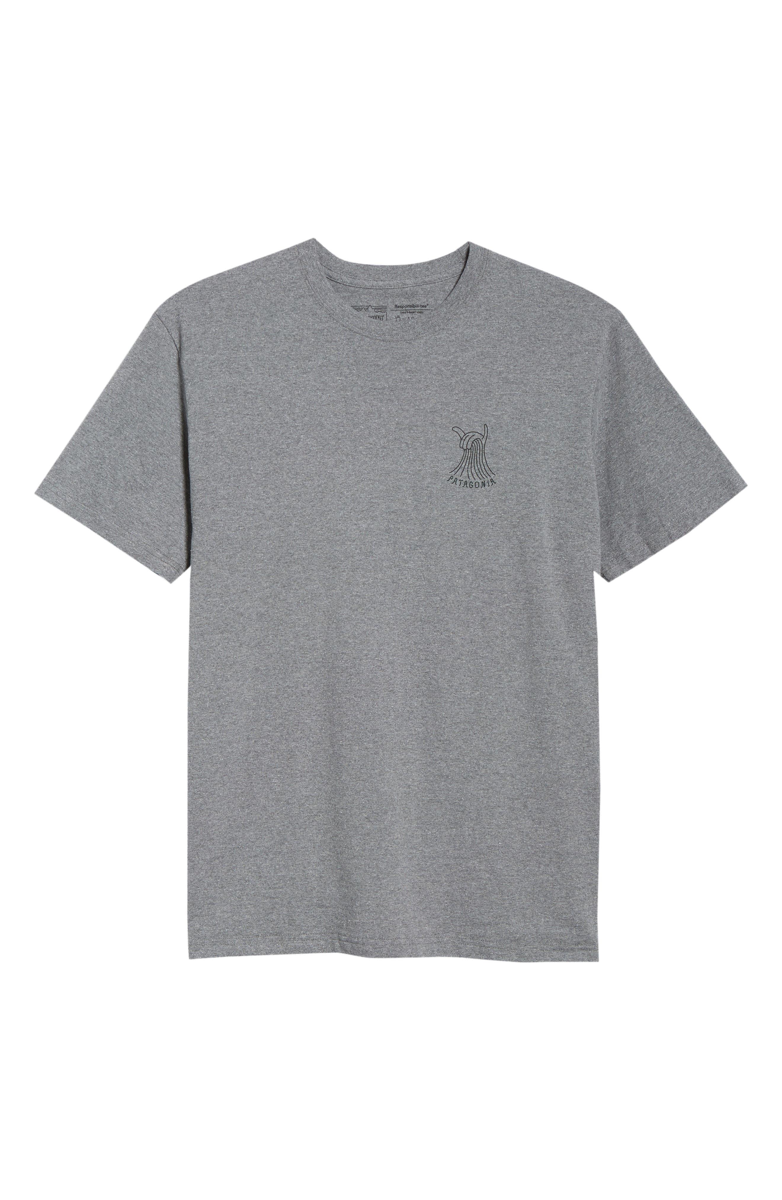 Shaka Wave Slim Fit T-Shirt,                             Alternate thumbnail 6, color,                             GRAVEL HEATHER