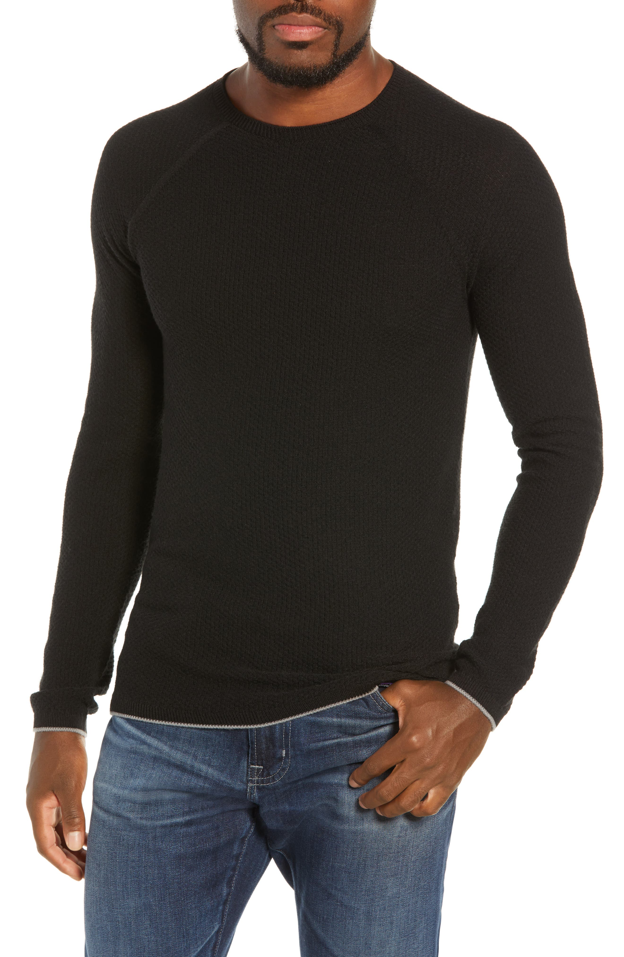 Capilene<sup>®</sup> Lightweight Air Crew Sweater,                             Main thumbnail 1, color,                             BLACK