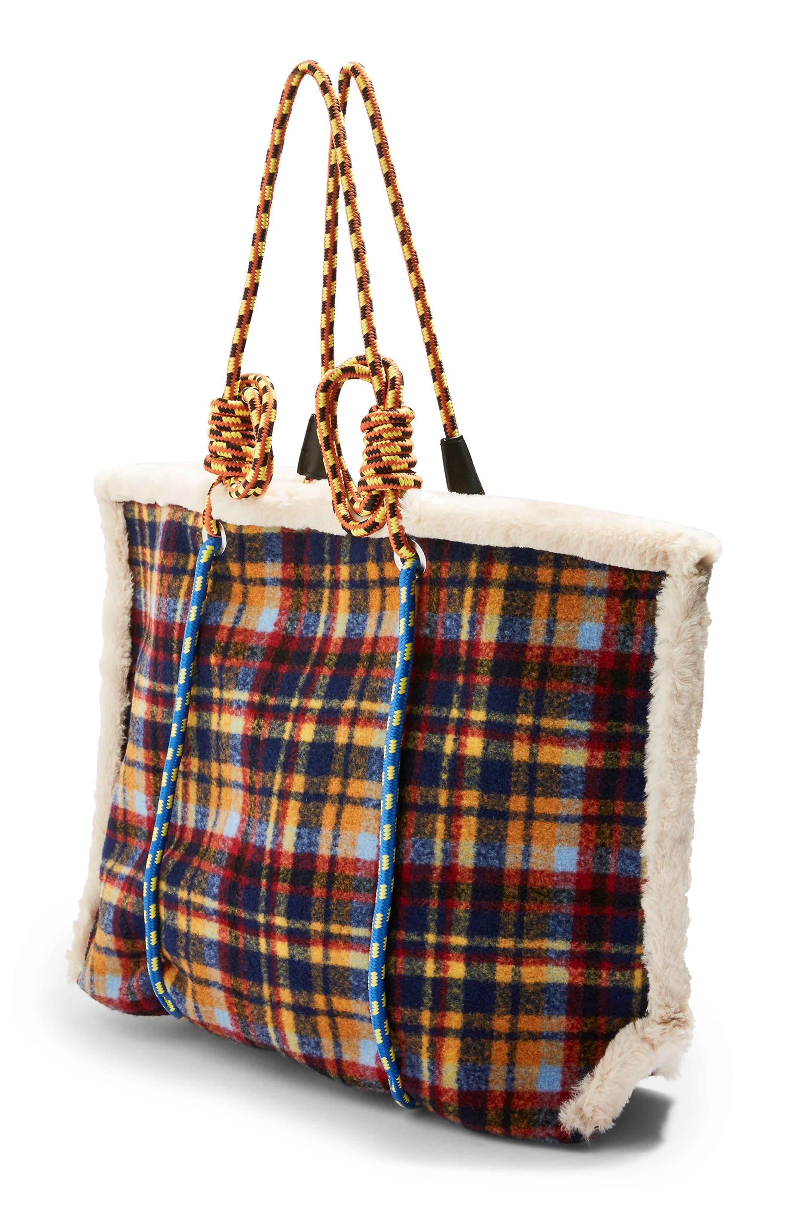 Blanket Rope Tote Bag,                             Alternate thumbnail 3, color,                             BLUE MULTI