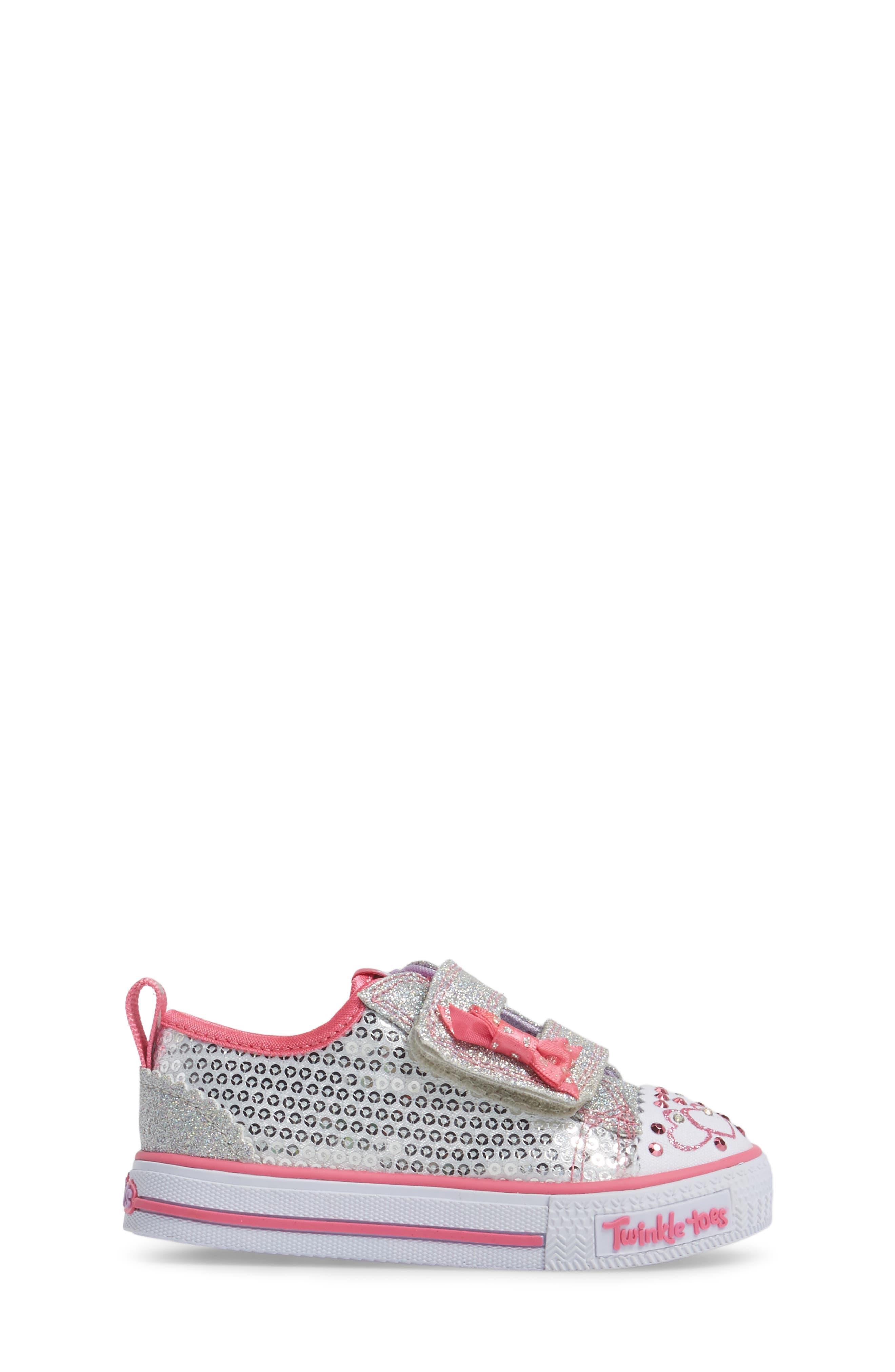 Shuffles - Itsy Bitsy Light-Up Sneaker,                             Alternate thumbnail 3, color,                             040