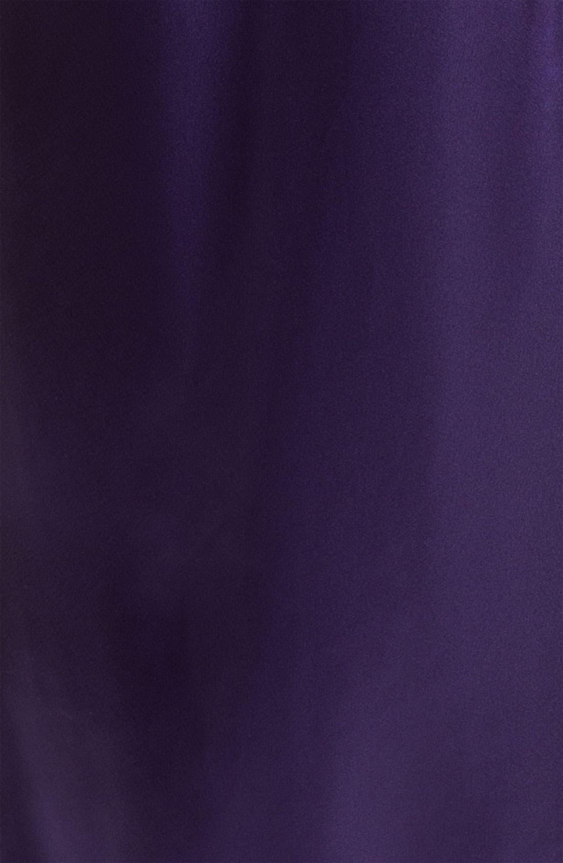 Sleepwear Lace Trim Charmeuse Robe,                             Alternate thumbnail 6, color,
