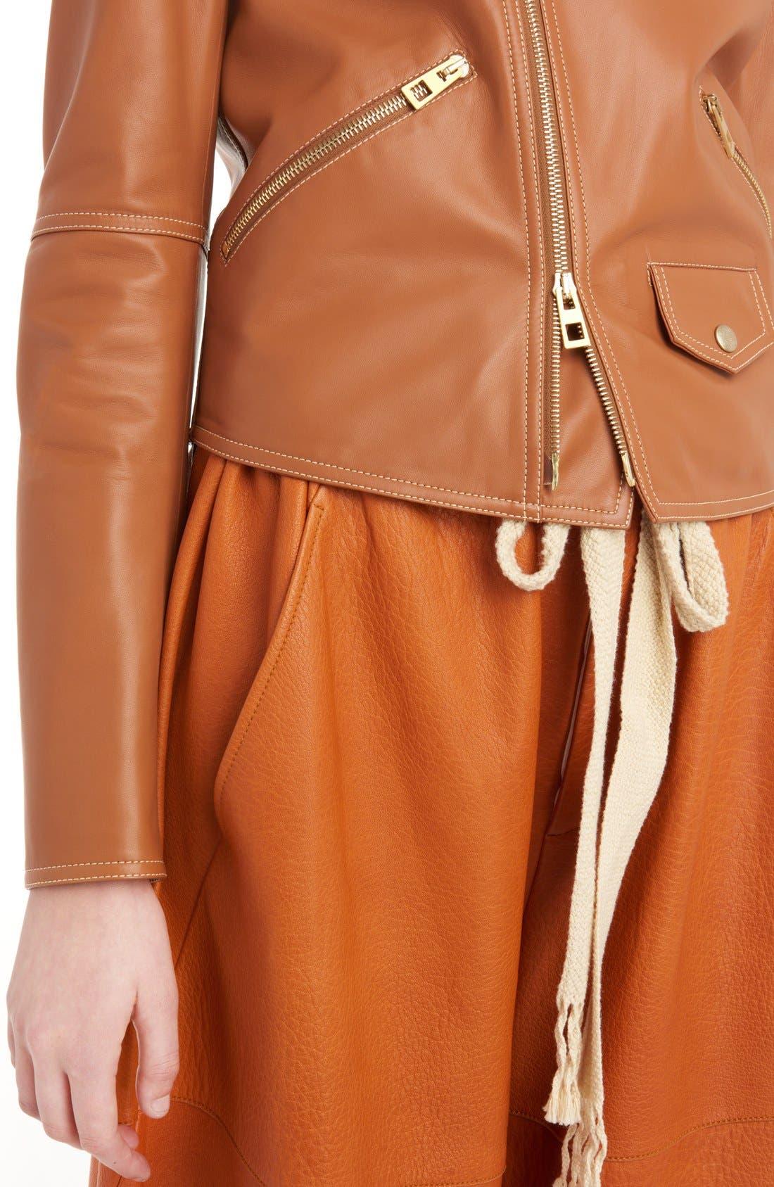 Nappa Leather Biker Jacket,                             Alternate thumbnail 6, color,