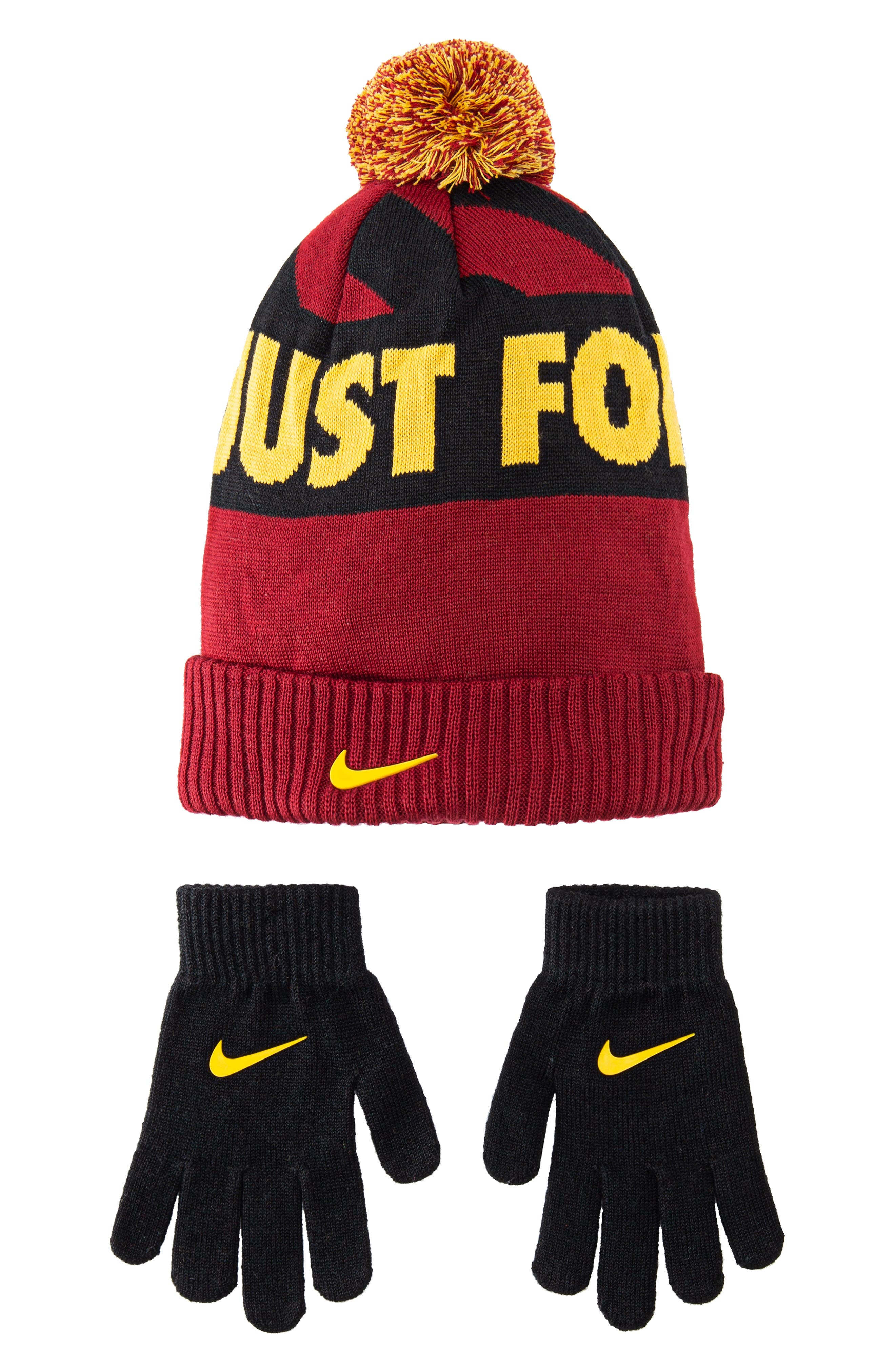 Boys Nike Attitude Knit Cap  Gloves Set