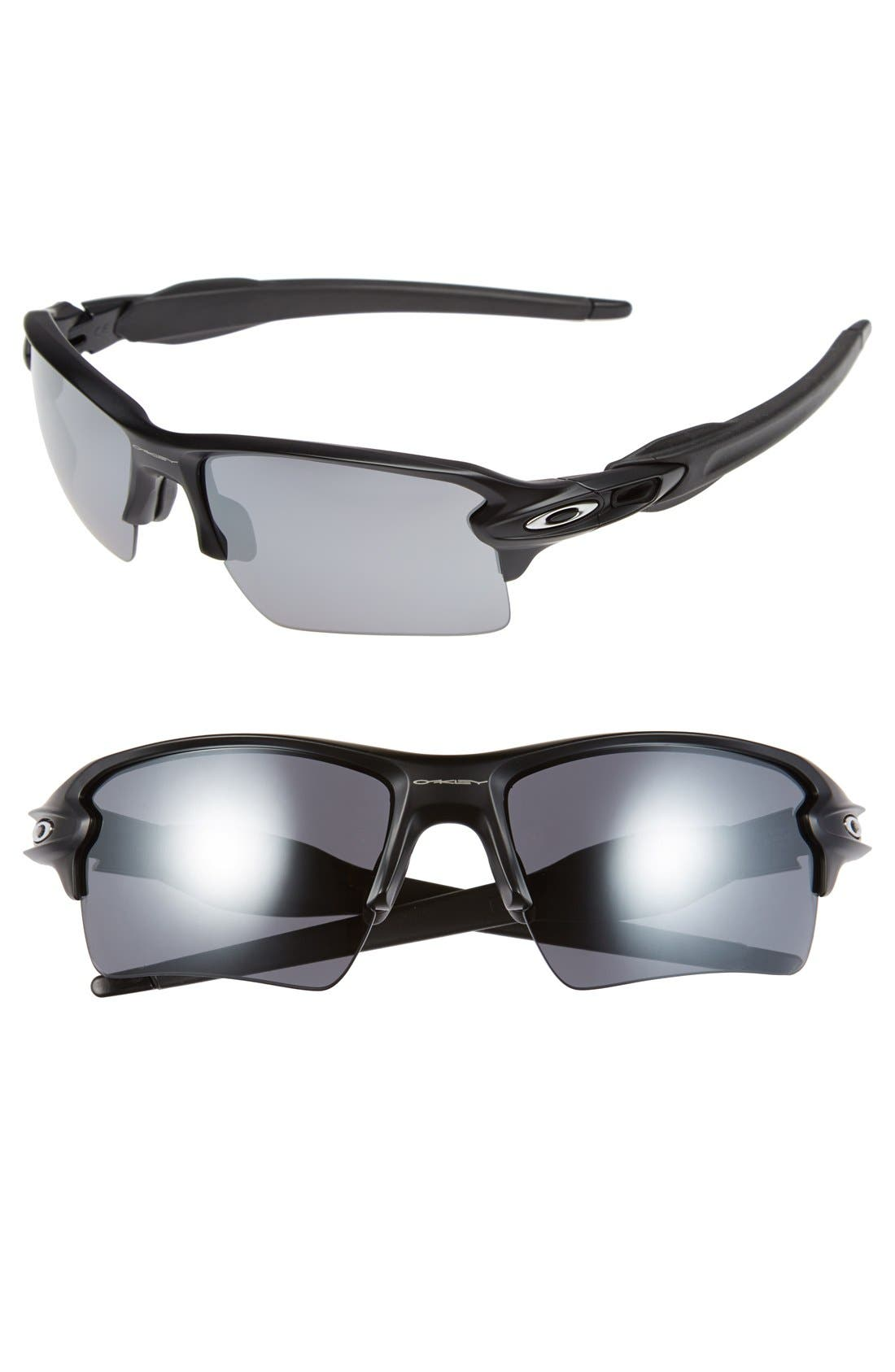 'Flak 2.0 XL' 59mm Sunglasses,                             Main thumbnail 1, color,                             MATTE BLACK/ BLACK IRIDIUM