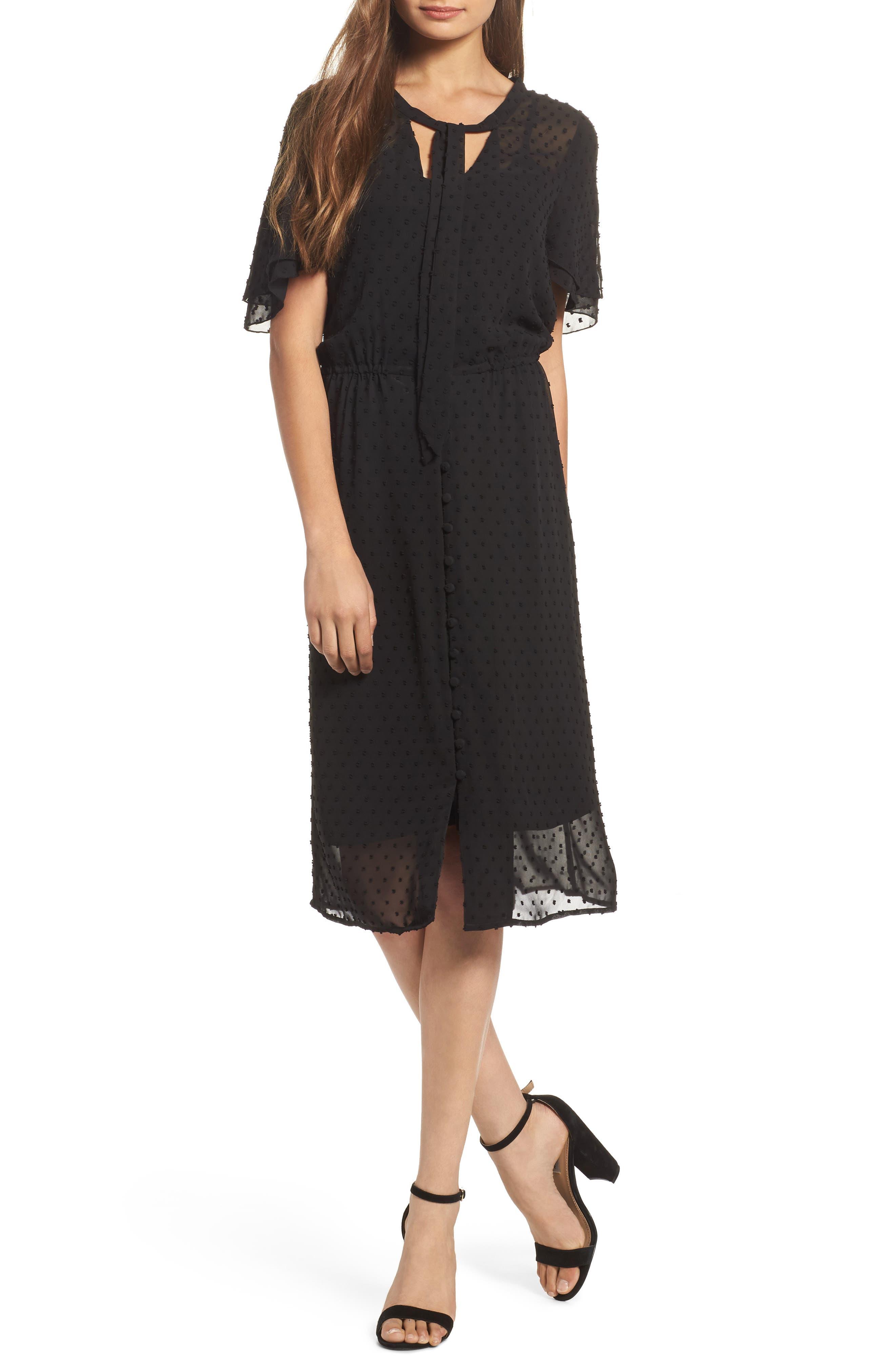 Last Call Midi Dress,                         Main,                         color, 001