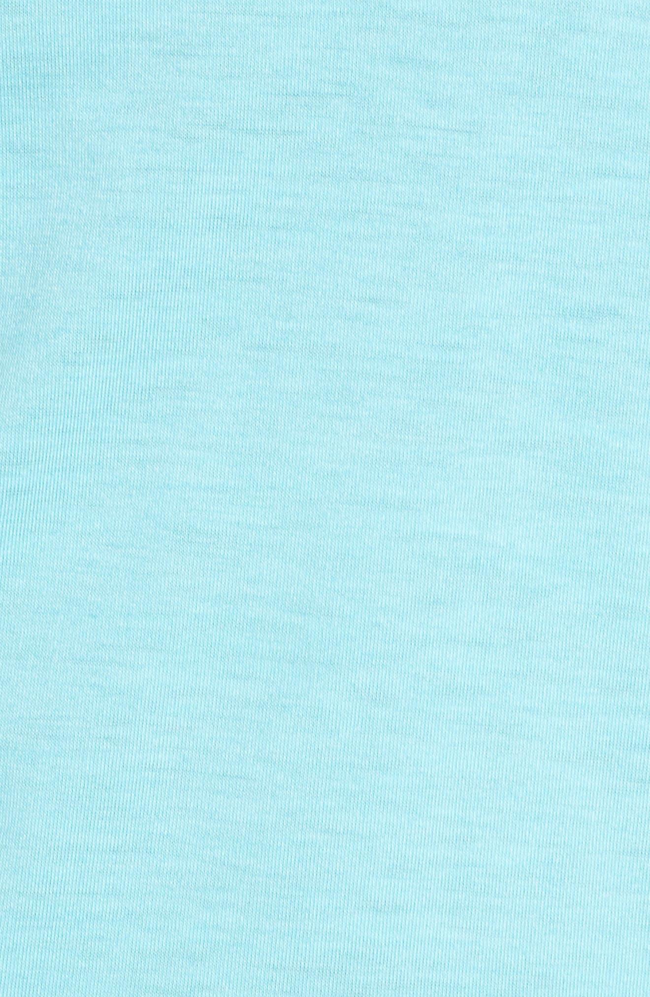 Swyft Funnel Neck Hoodie,                             Alternate thumbnail 6, color,                             VENETIAN BLUE/ REFLECTIVE