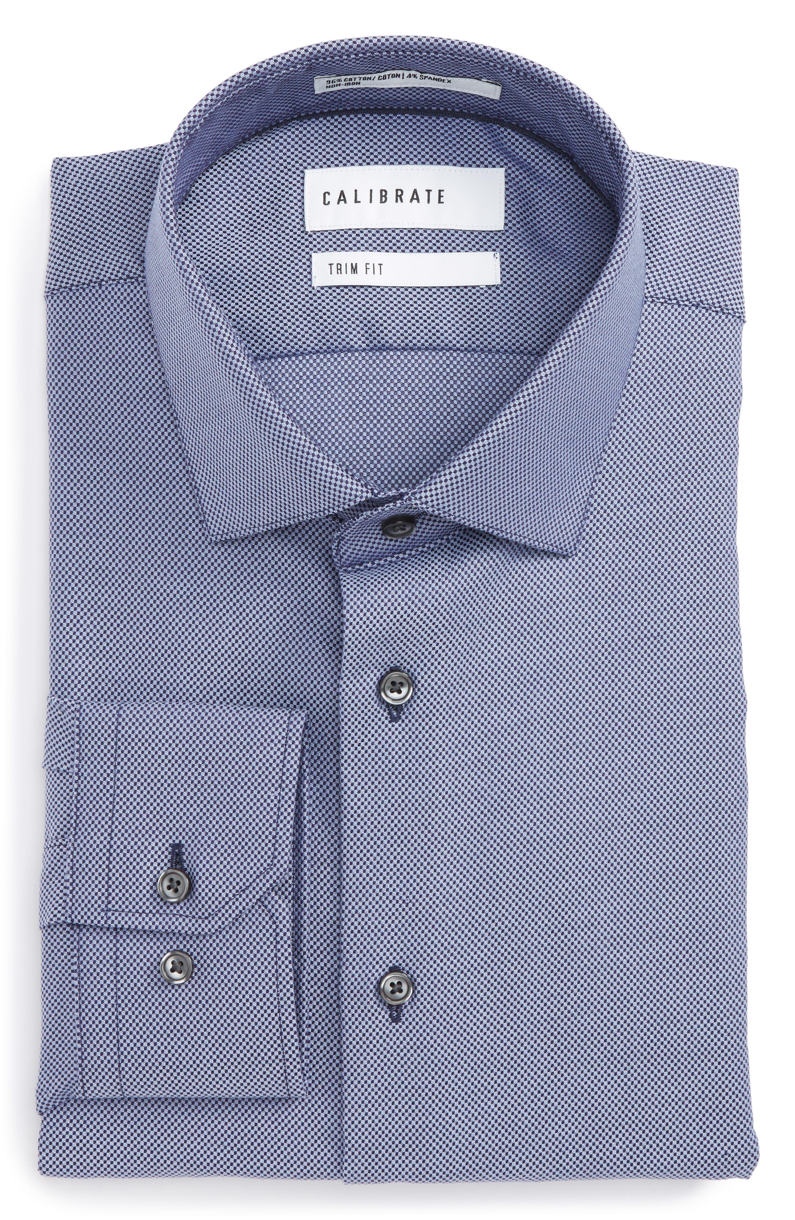 Trim Fit Dress Shirt,                         Main,                         color, 420