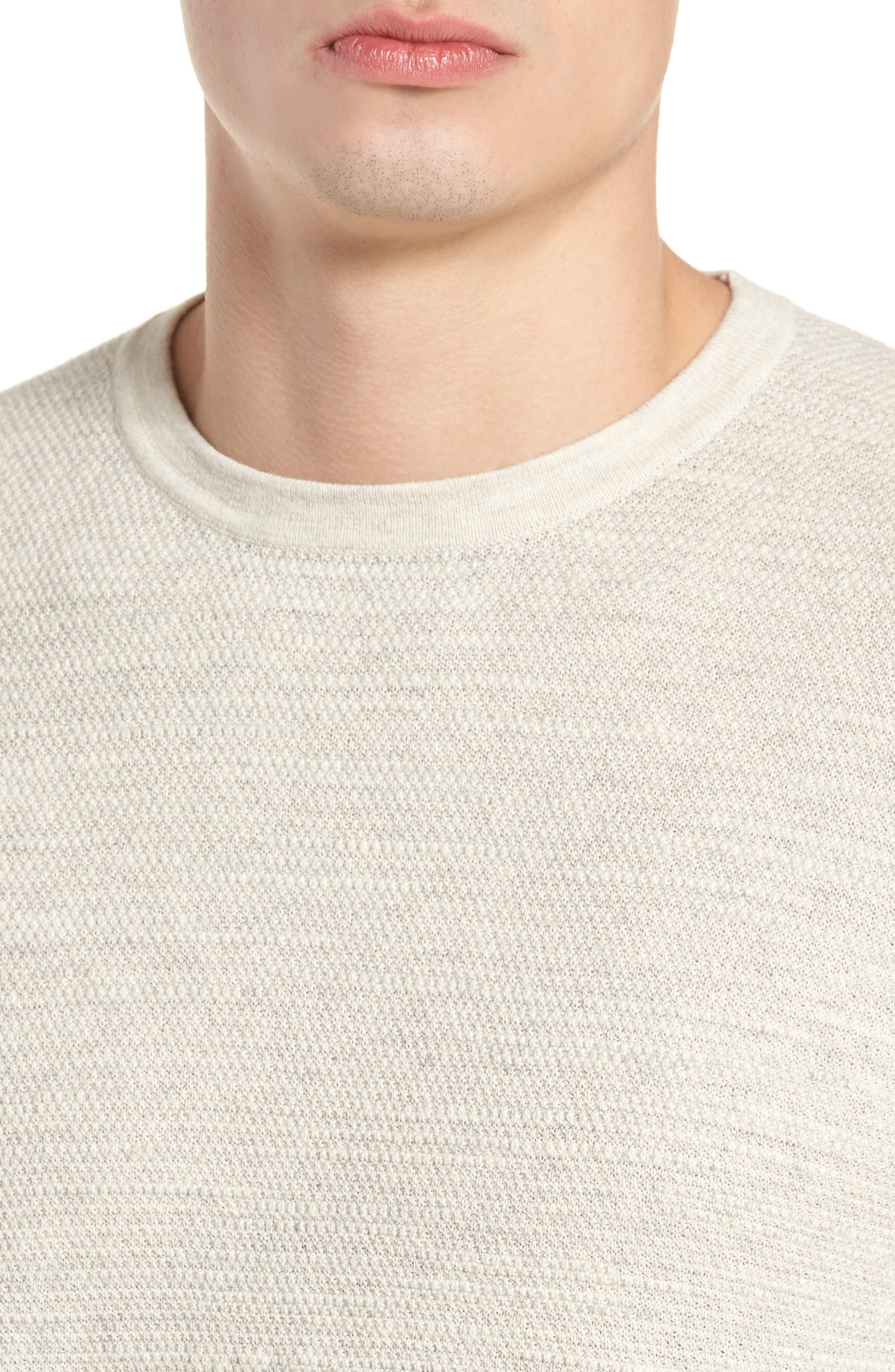 Slub Thermal Knit Sweater,                             Alternate thumbnail 4, color,