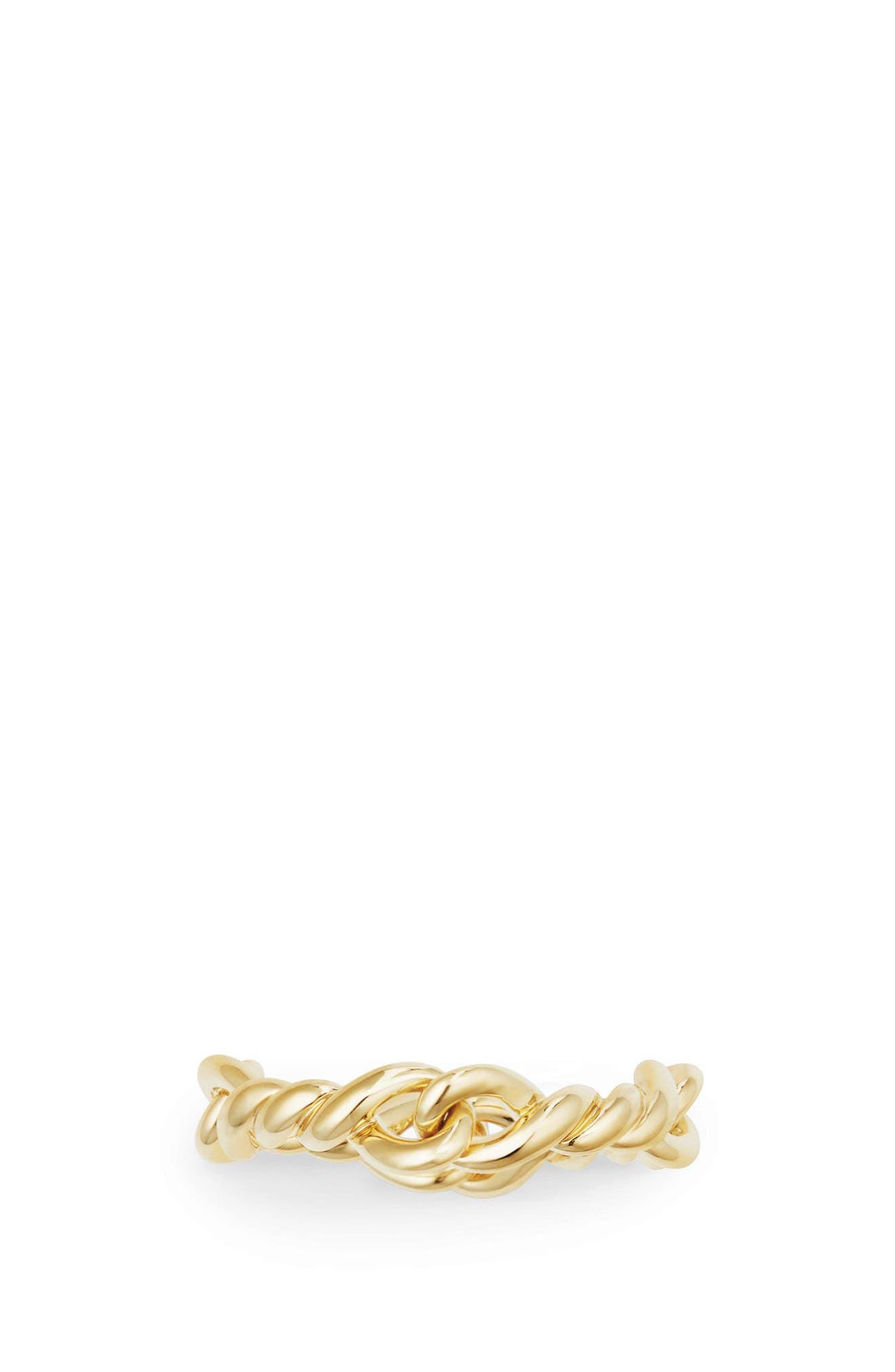 DAVID YURMAN,                             Continuance Ring in 18K Gold,                             Alternate thumbnail 3, color,                             YELLOW GOLD